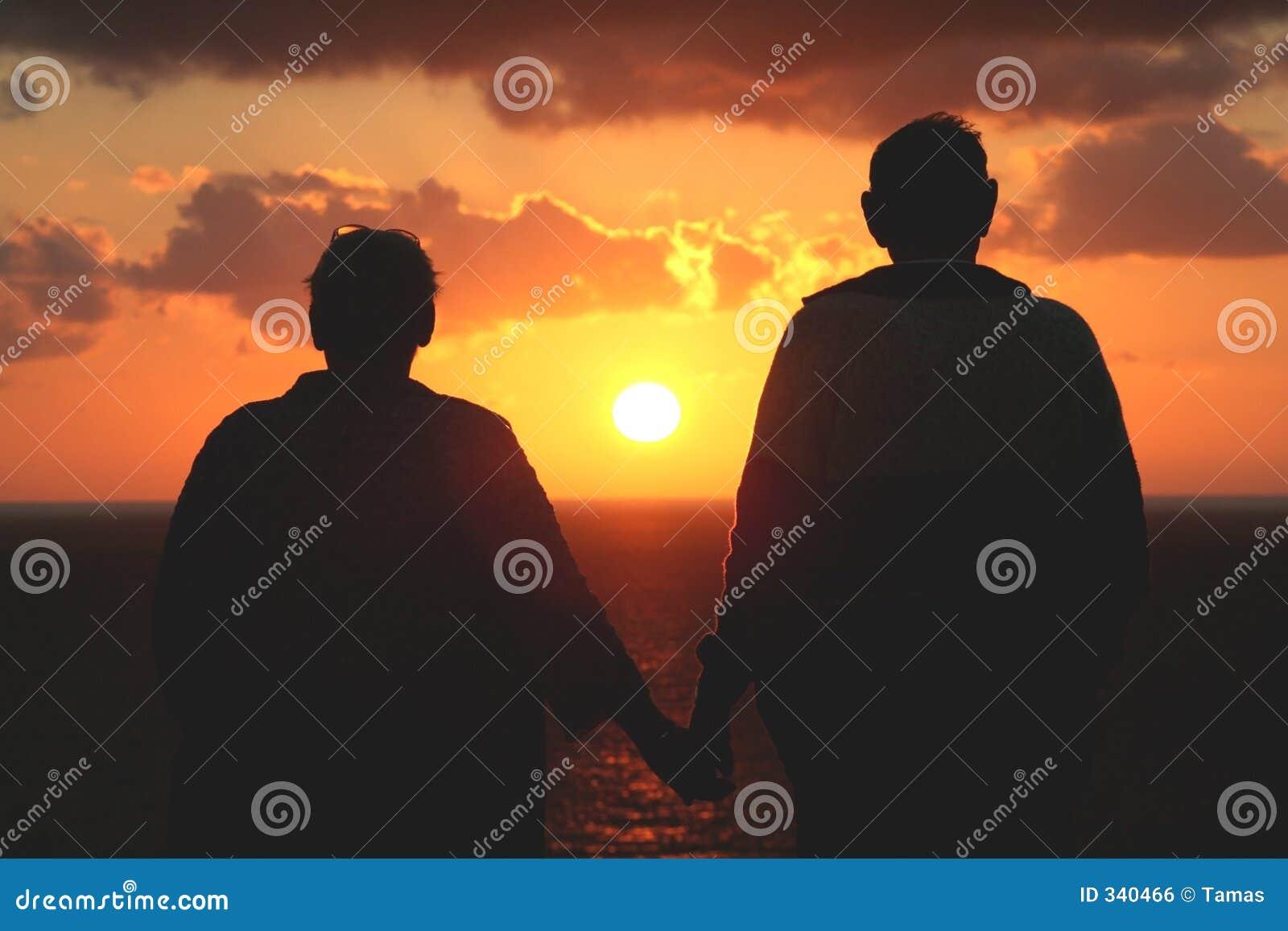 наблюдать захода солнца пар более старый старший