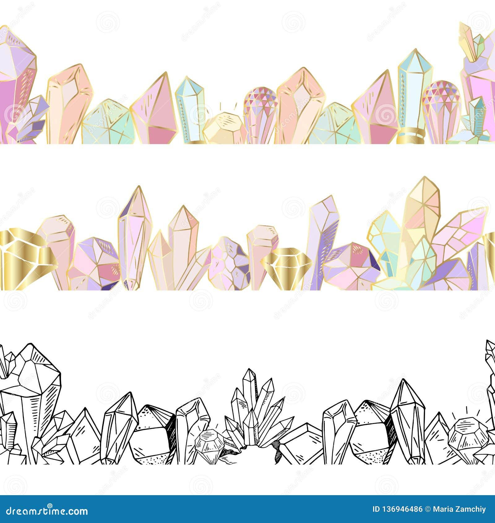 Набор кристаллов вектора