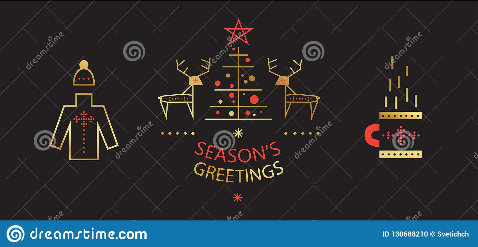 Набор Нового Года и веселого рождества