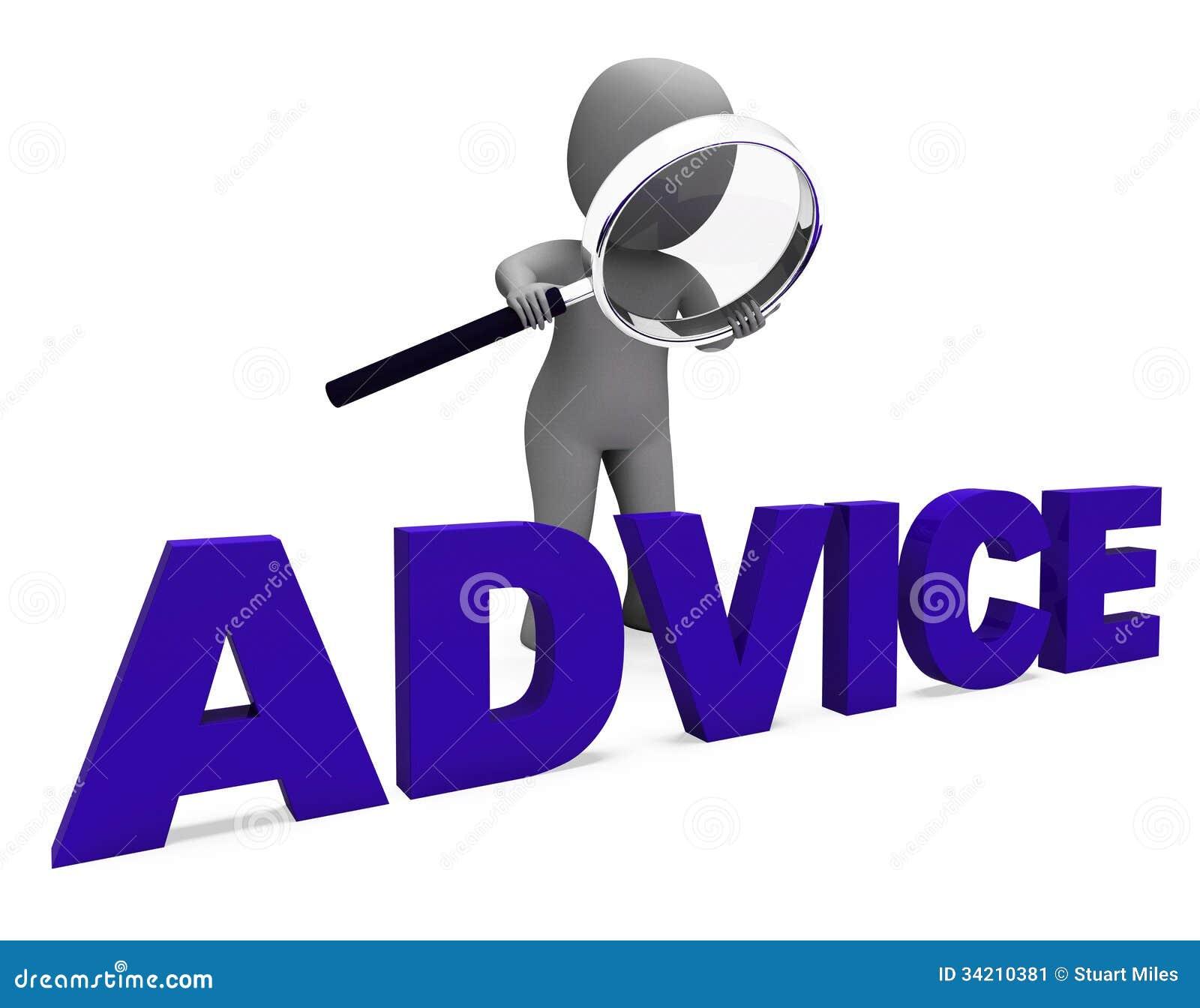 Наведение Councel середин характера консультации рекомендует или предлагает