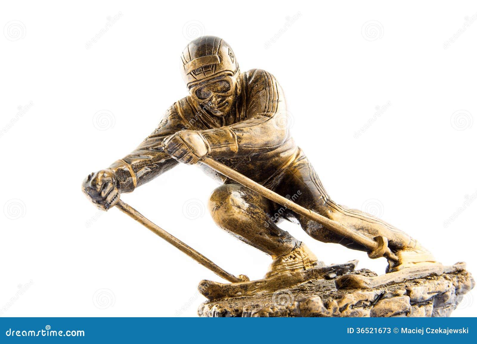 Награда статуэтки чемпиона лыжи золота