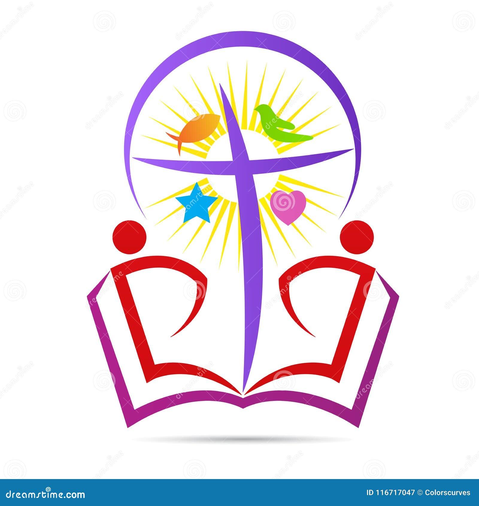 Надежда креста библии христианства верит логотипу символа мира