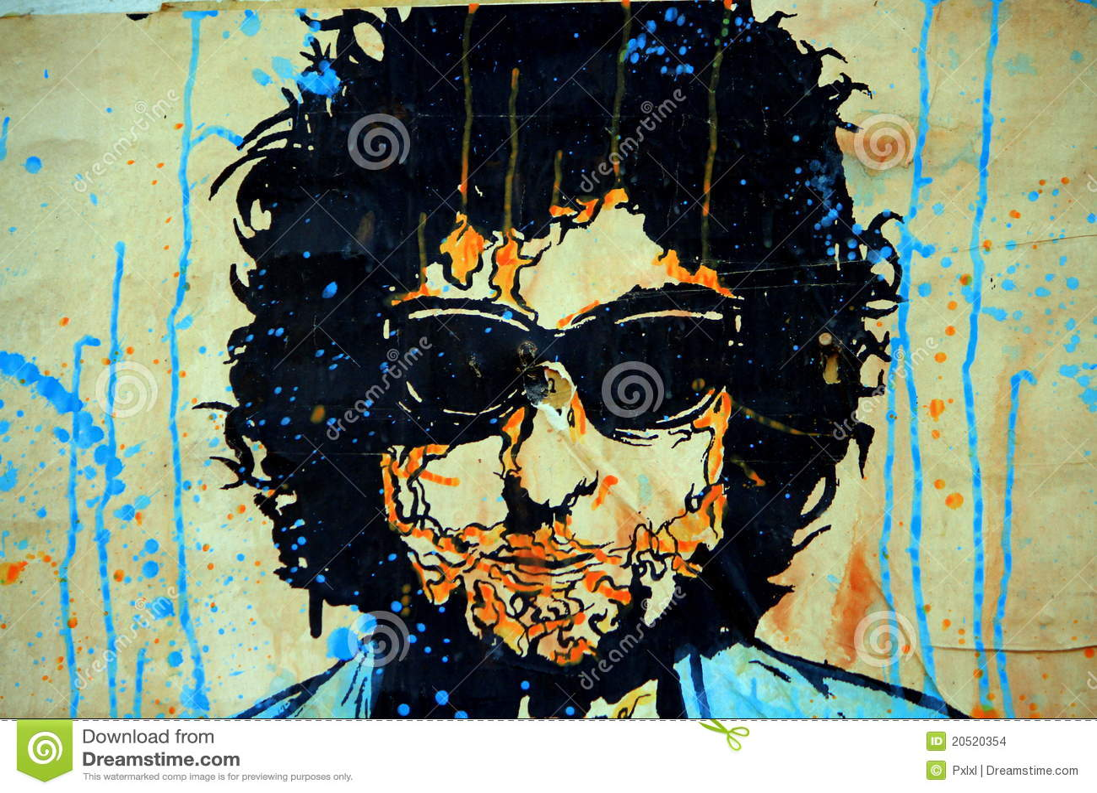 надпись на стенах dylan bob искусства