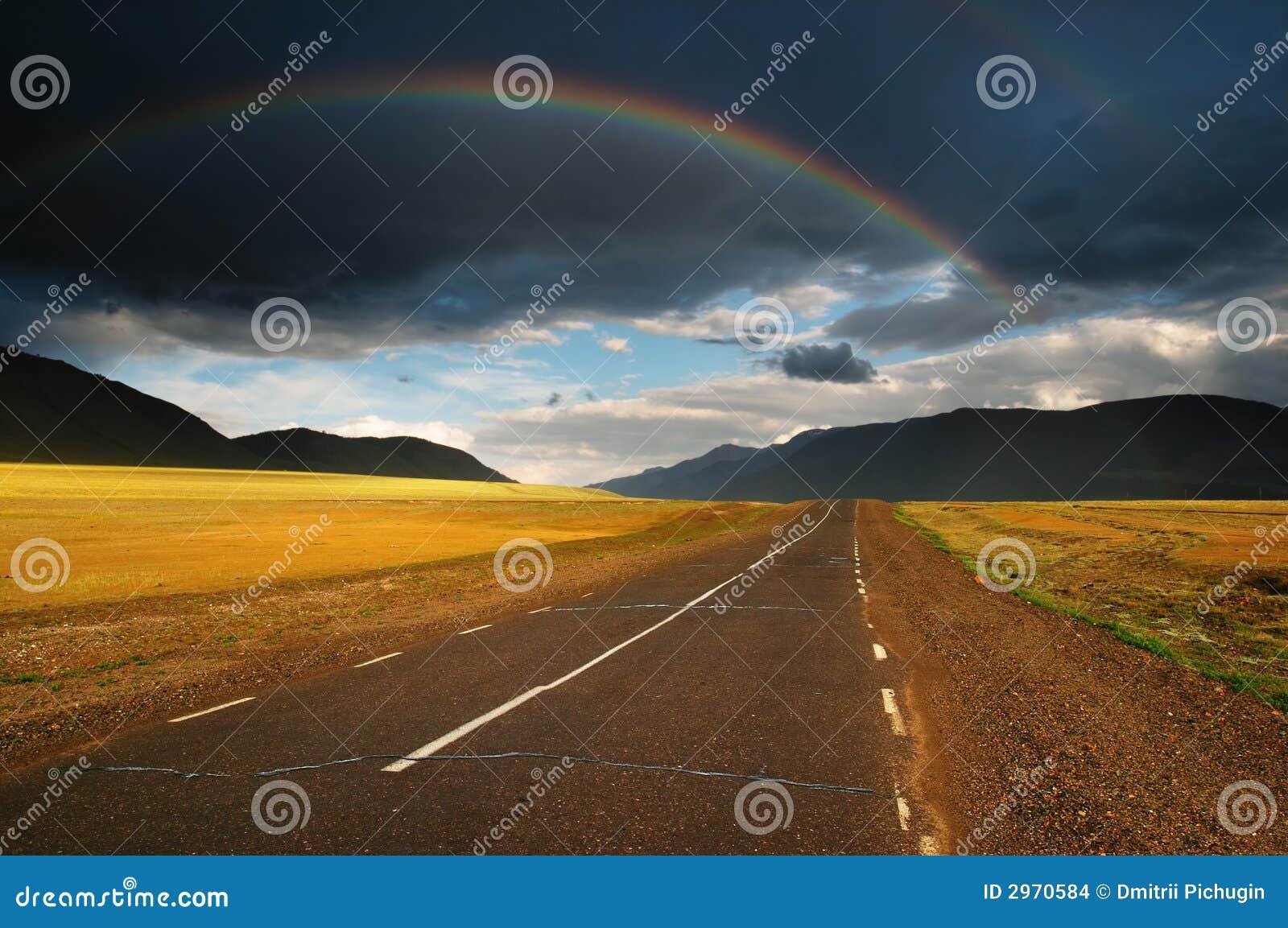 над дорогой радуги