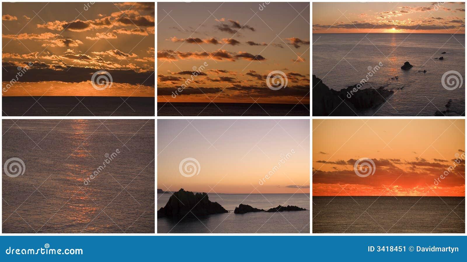 над заходом солнца восхода солнца моря