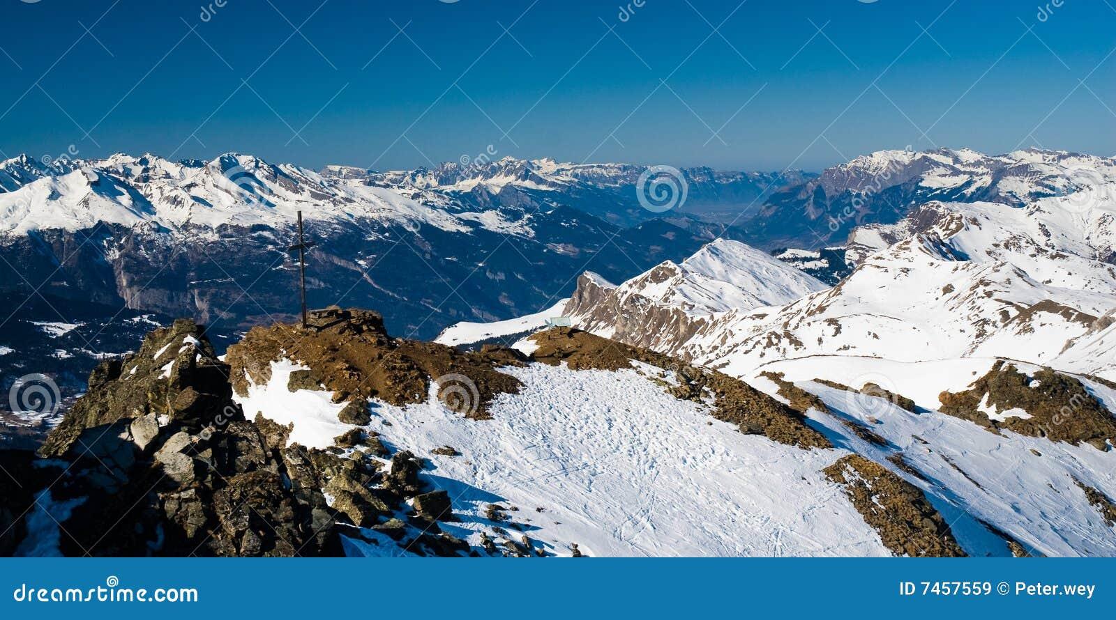 над панорамой lenzerheide