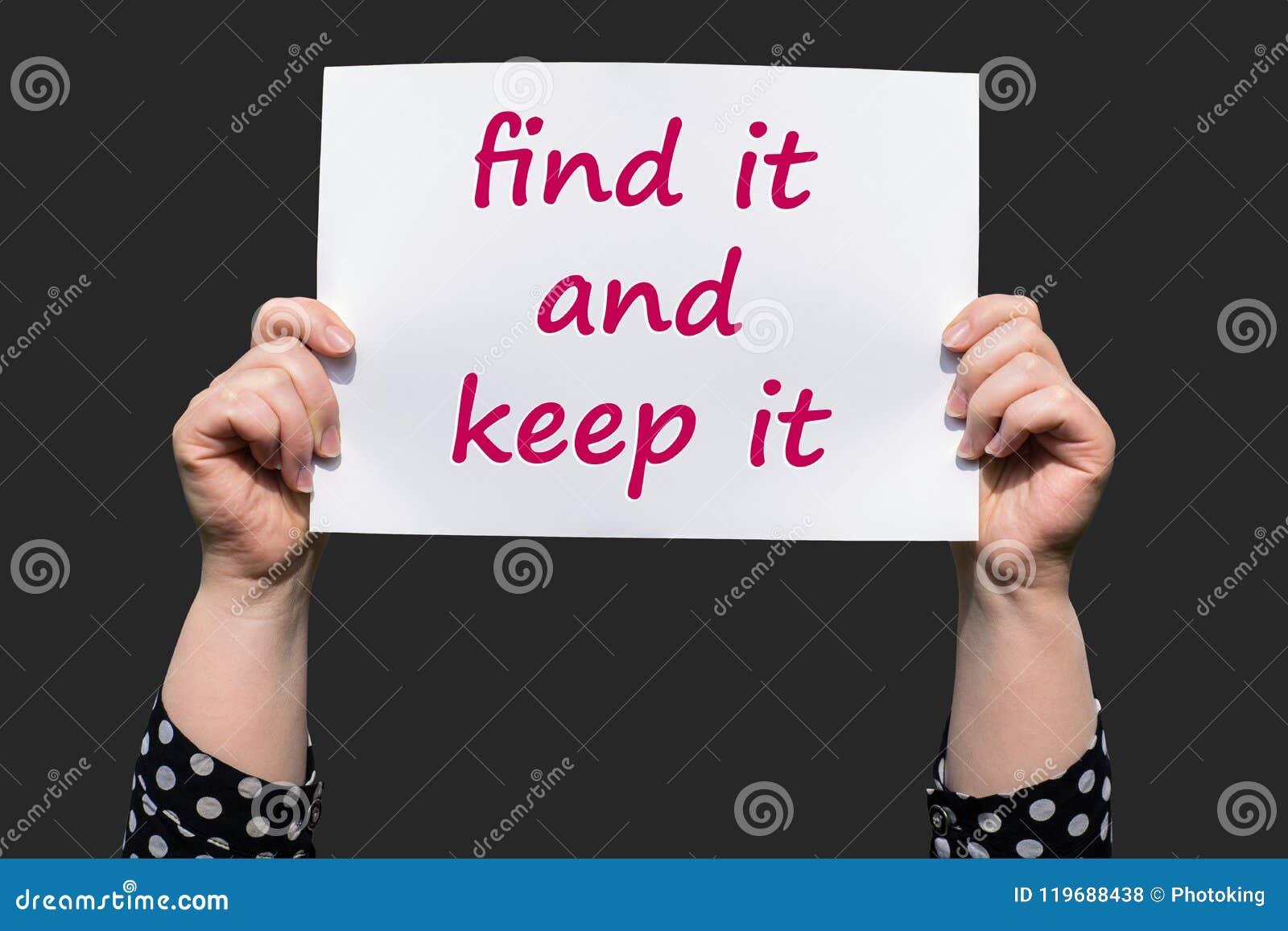 Найдите оно и сдержите его