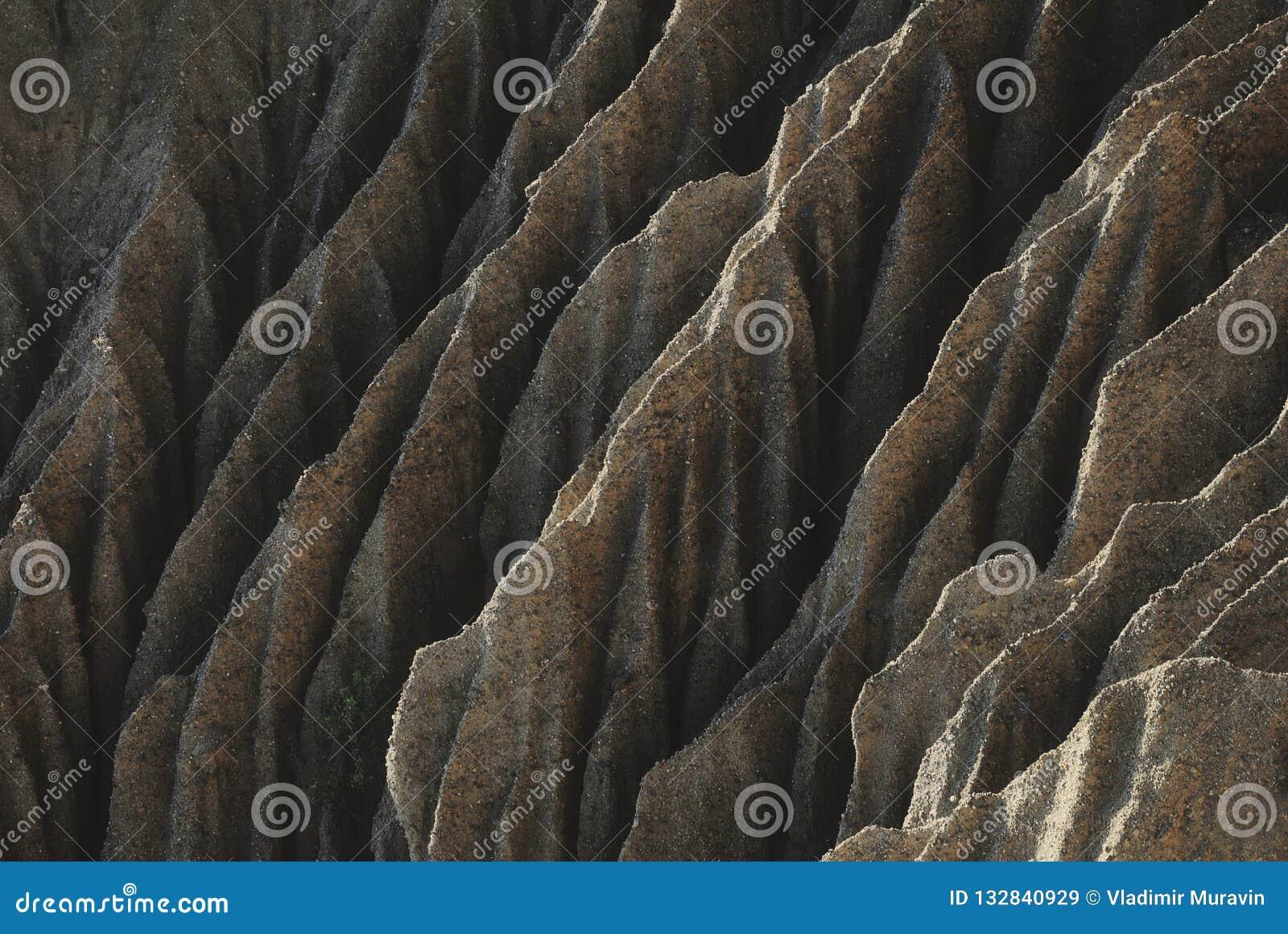 Наклон горы как много горные цепи