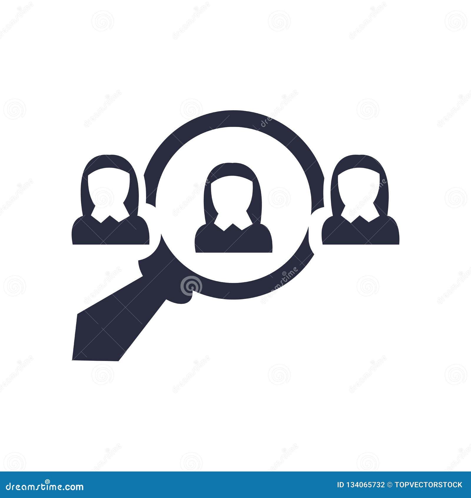 Нанимая знак и символ вектора значка изолированные на белой предпосылке, нанимая концепции логотипа