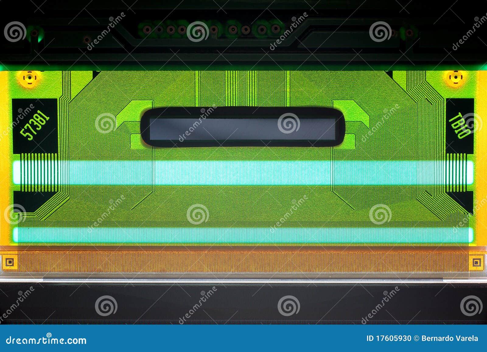 напечатанная цепь lcd доски