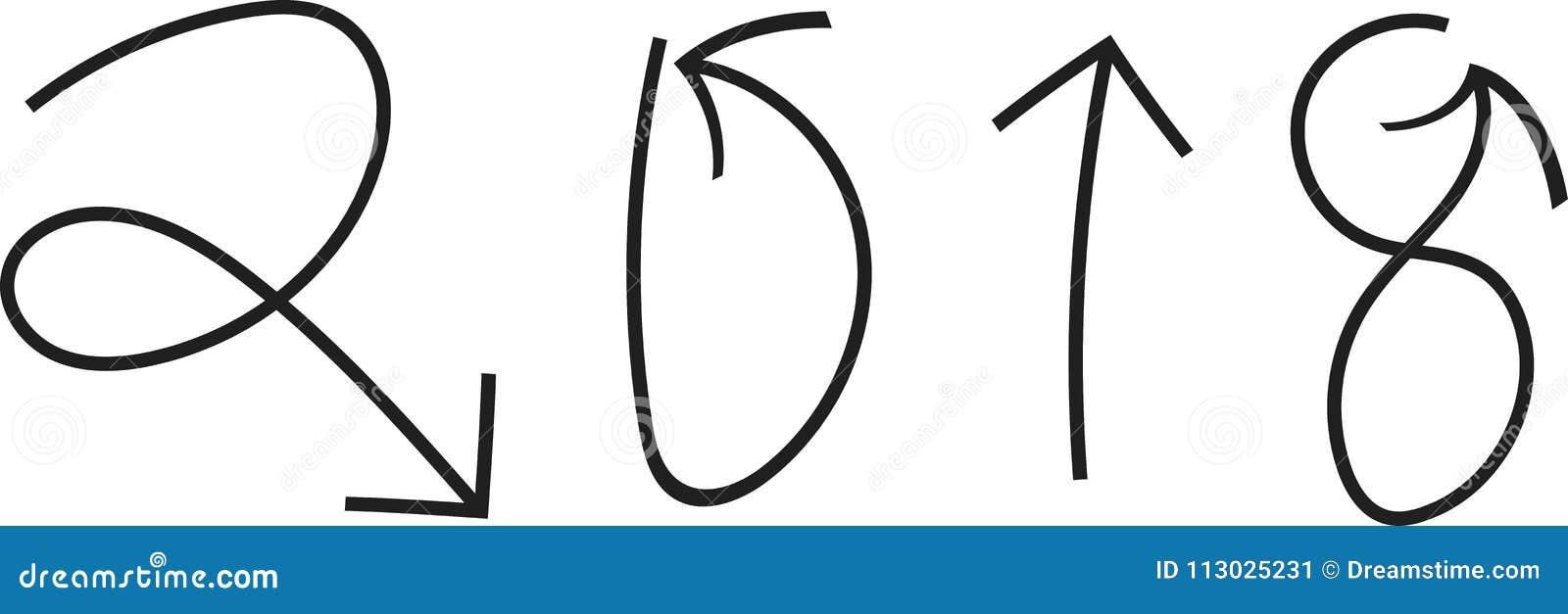 2018 написанное с стрелками