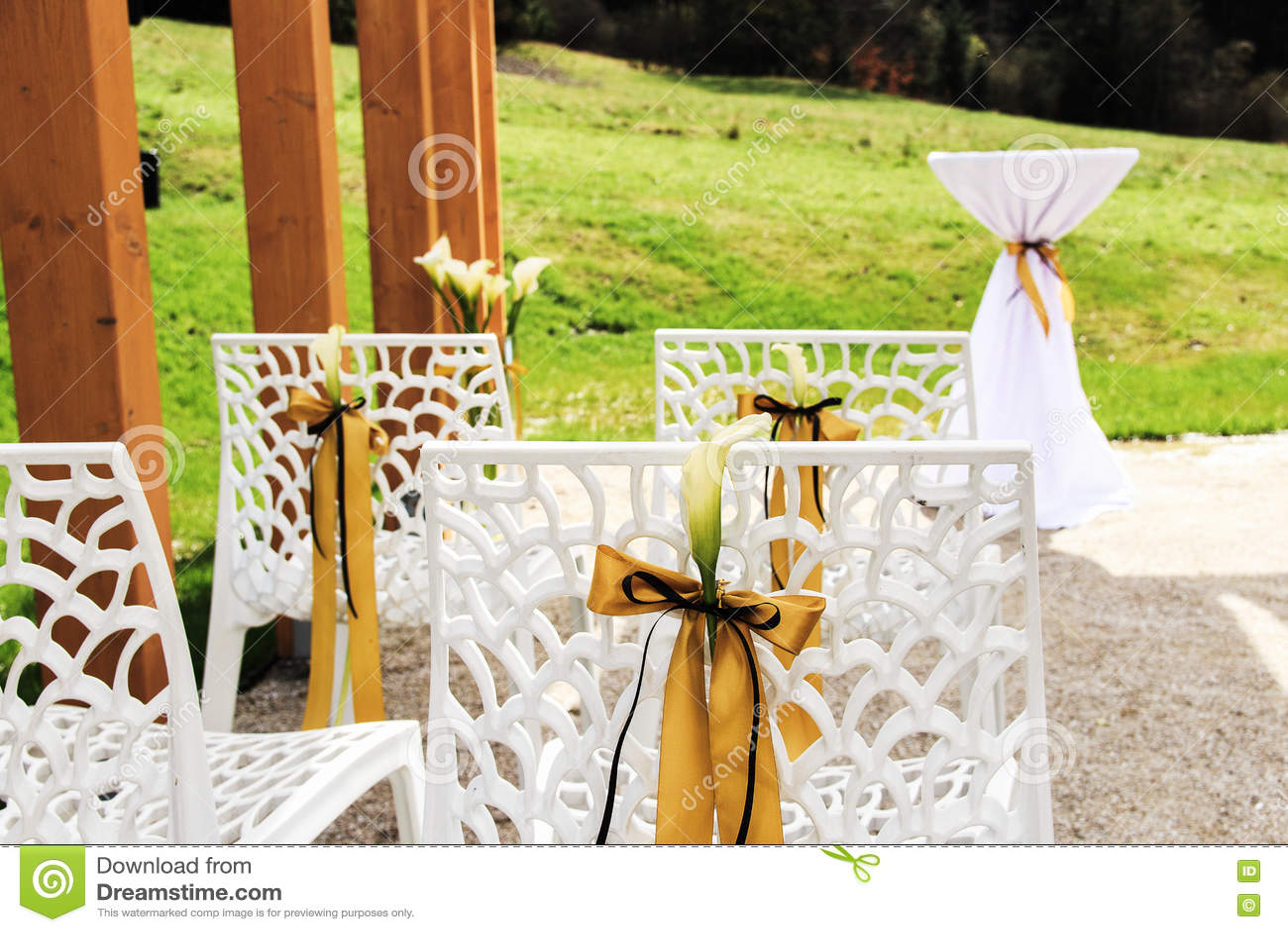 напольное венчание места