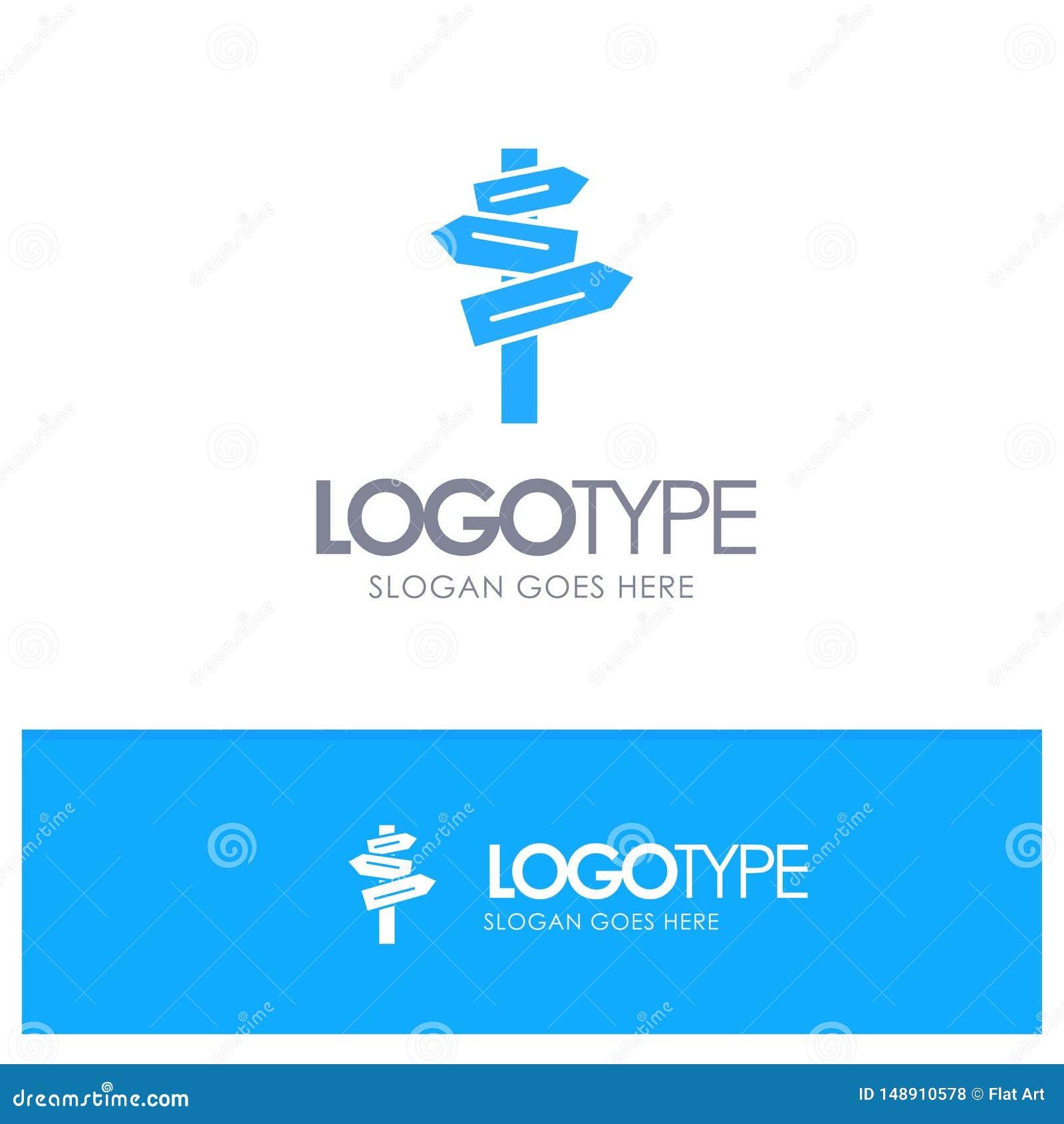 Направление, гостиница, мотель, вектор логотипа комнаты голубой