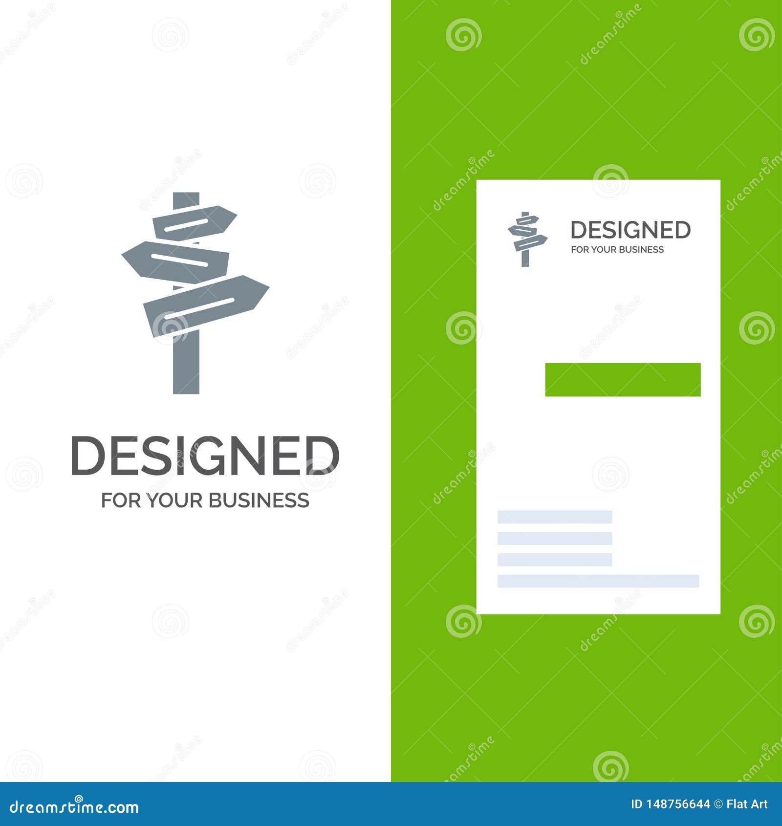 Направление, гостиница, мотель, дизайн логотипа комнаты серые и шаблон визитной карточки