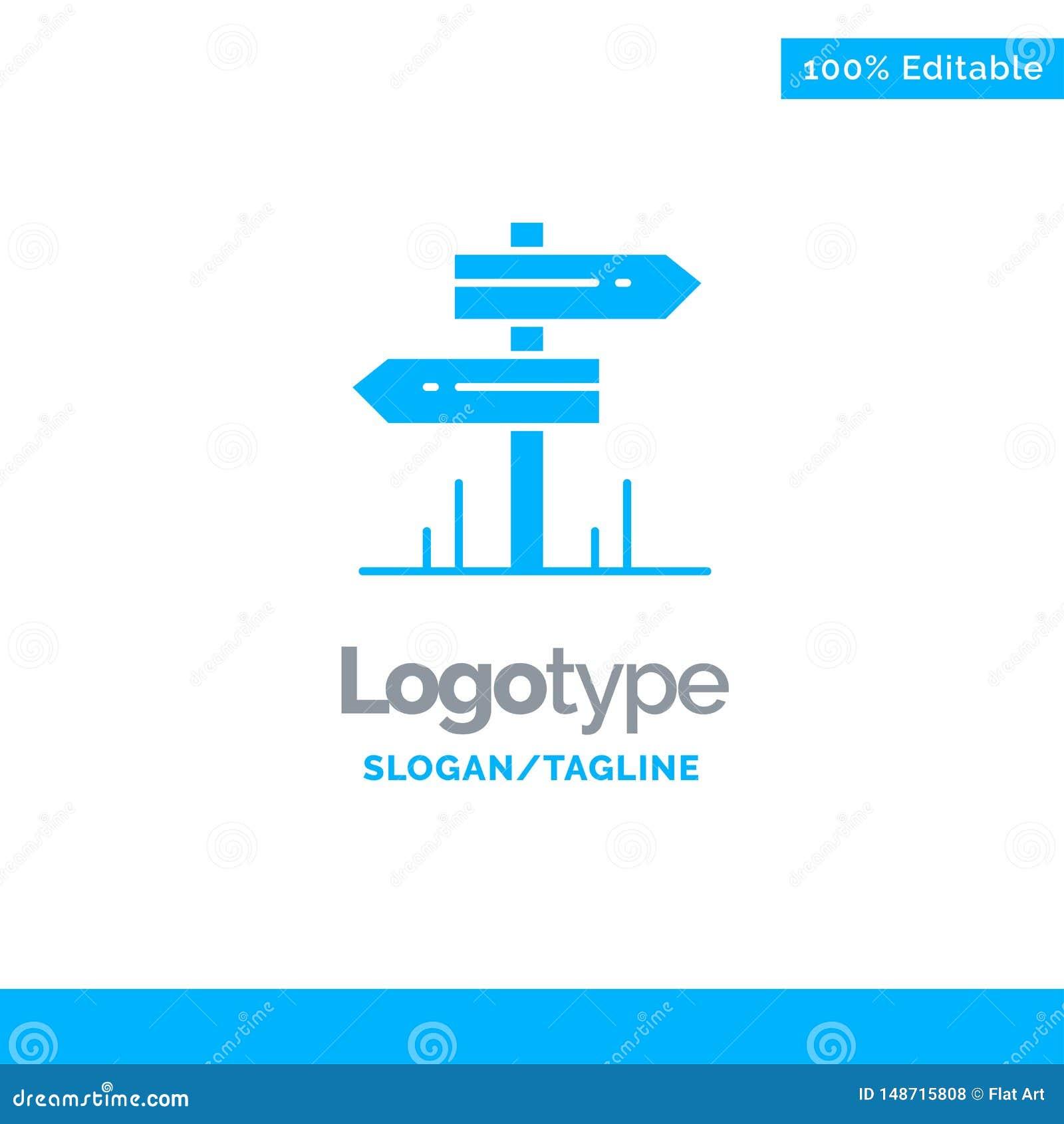 Направление, гостиница, мотель, шаблон логотипа дела комнаты голубой