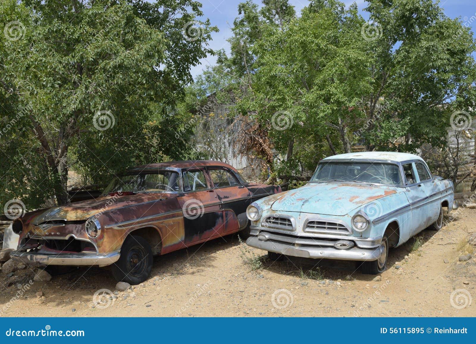 Направьте 66, Hackberry, AZ, США, автомобили ветерана