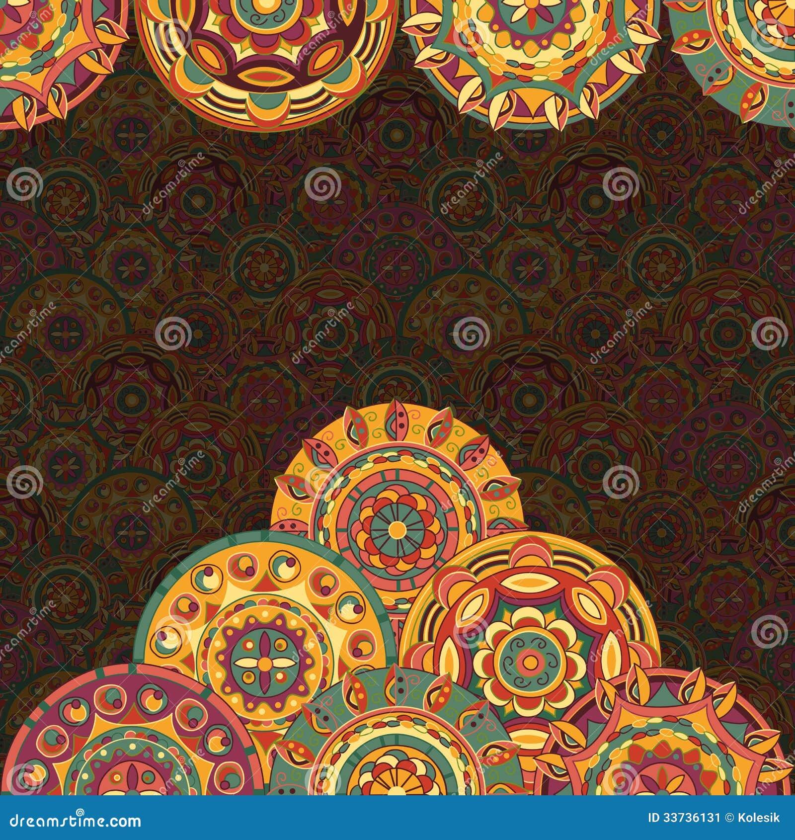 Нарисованная вручную предпосылка с кругами