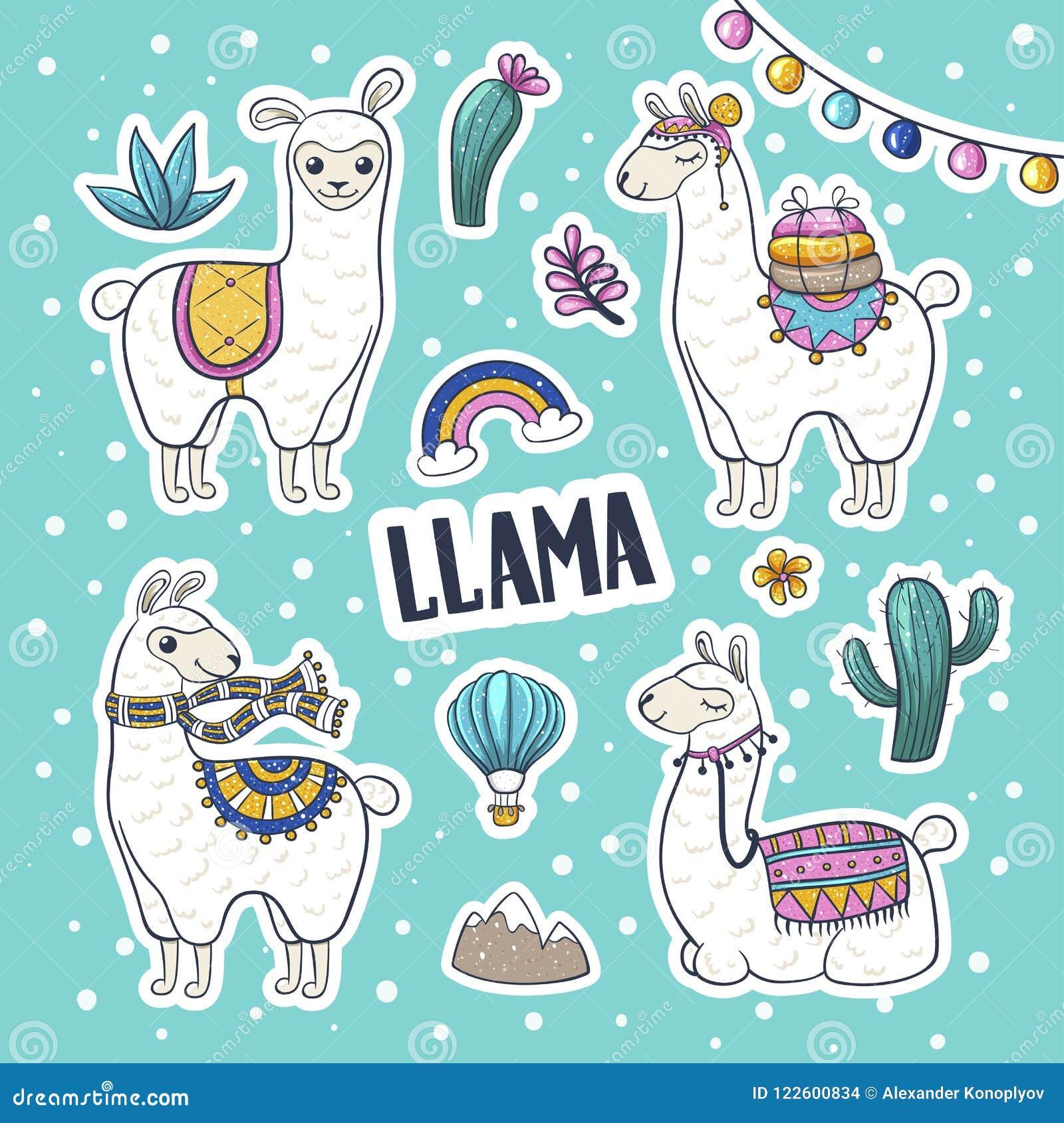 Нарисованная рука ламы