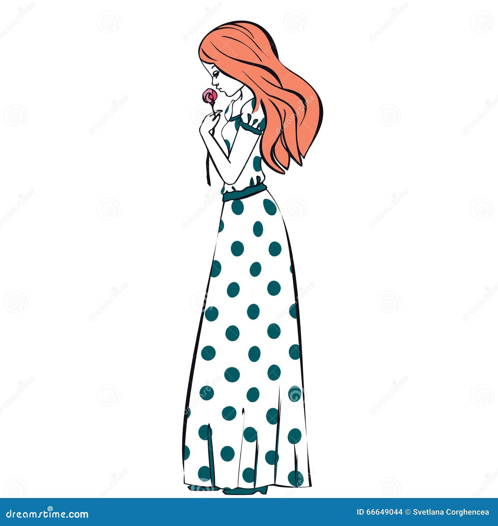 Фото девушек нарисованных в платьях