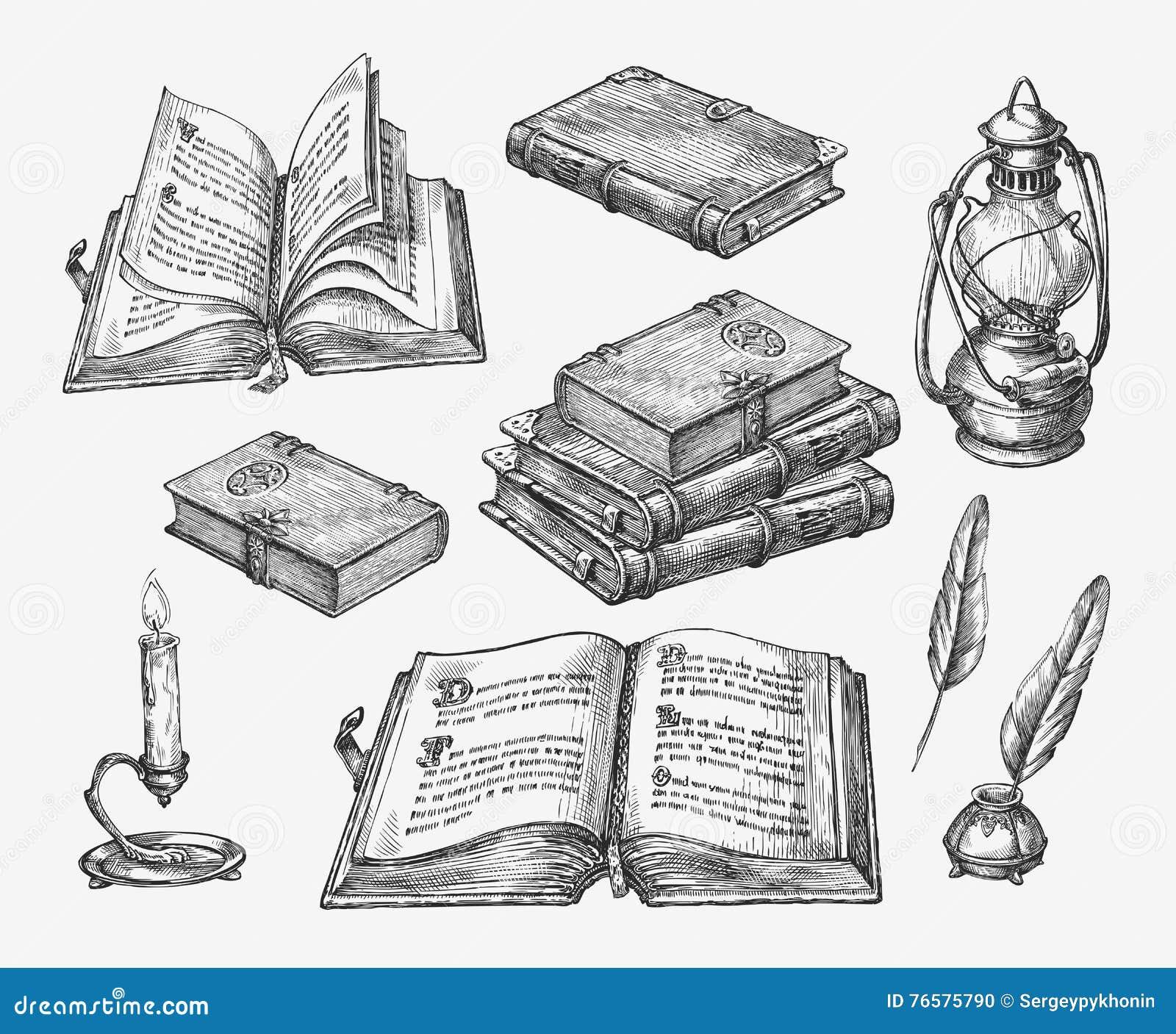 книги нарисованные картинки