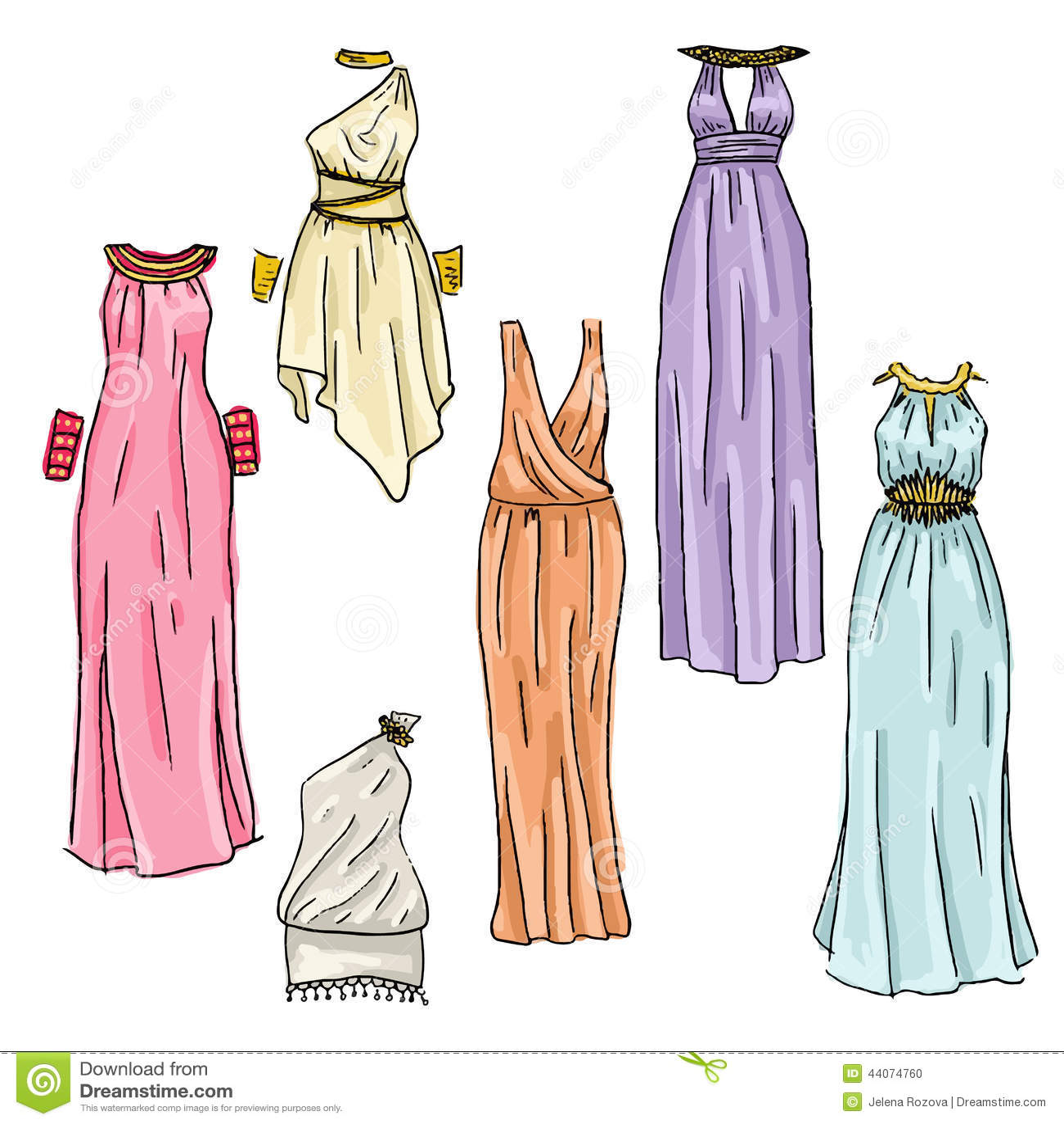Fashion dresses drawing