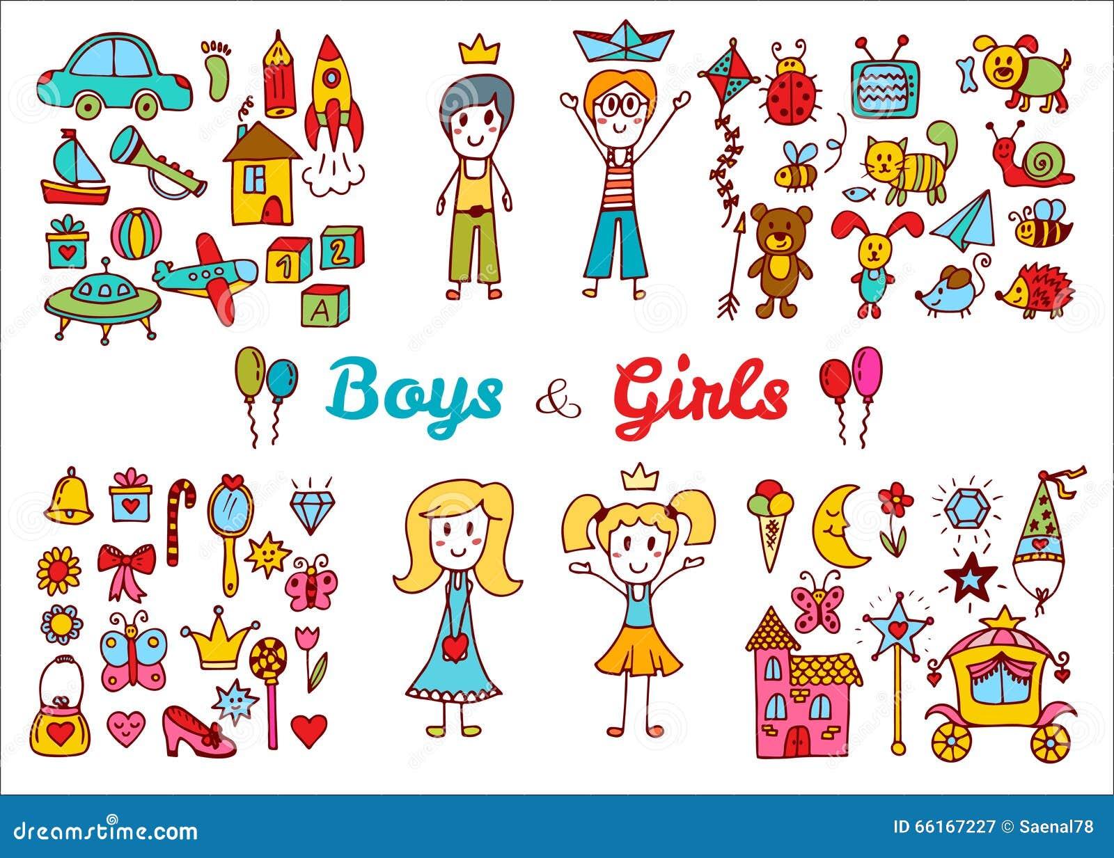 Рисованные девушки с детьми
