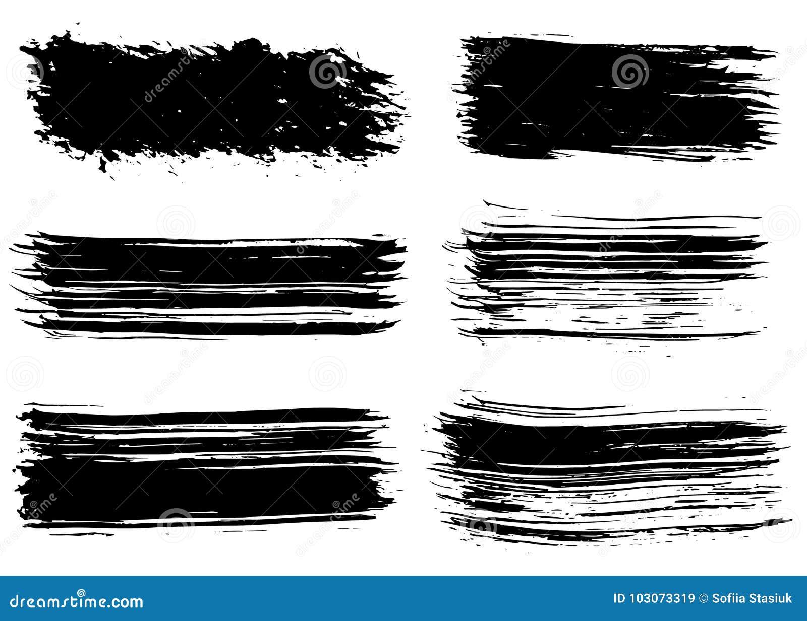 Нарисованные рукой ходы щетки Grunge