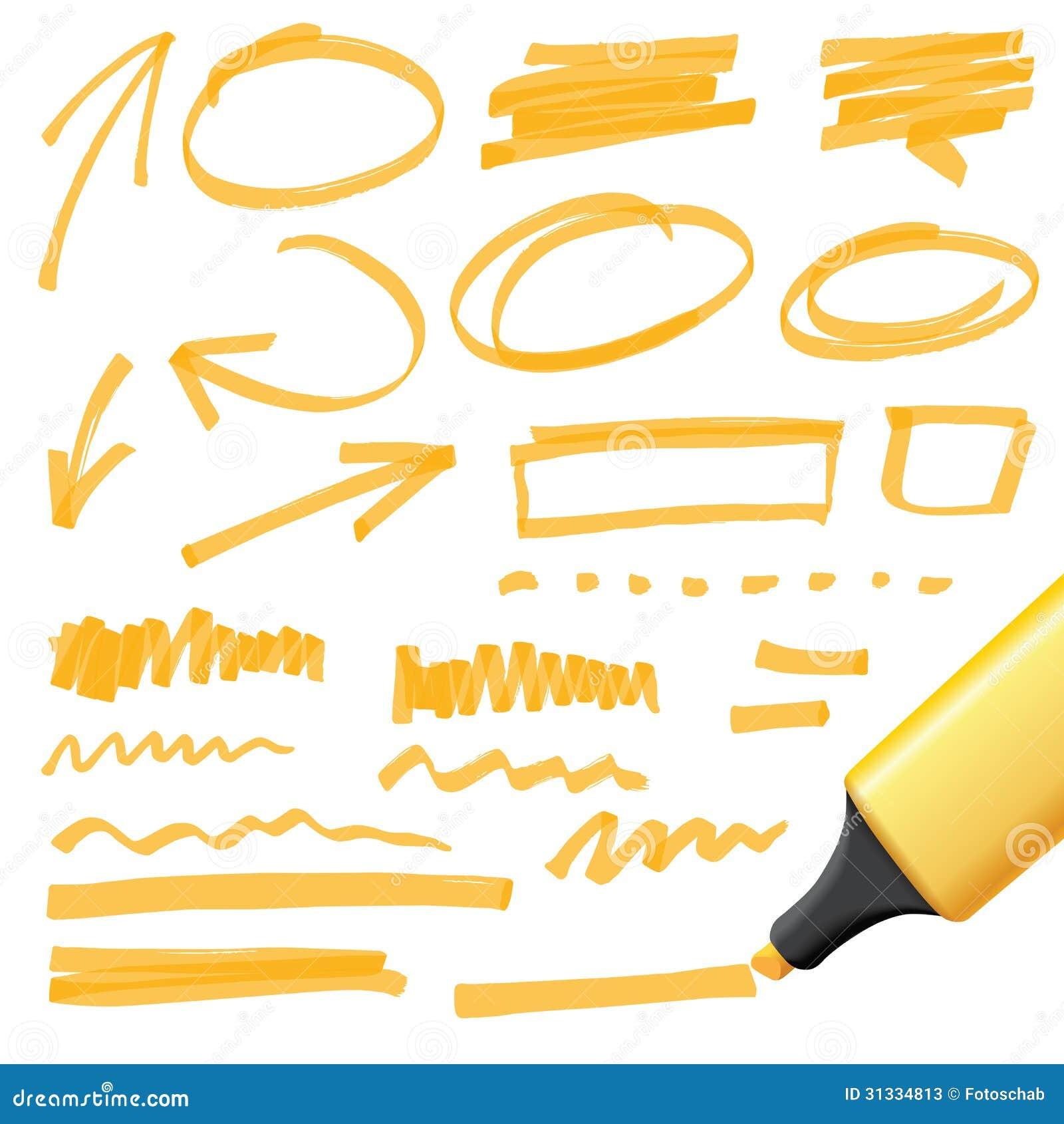 Нарисованные рукой элементы дизайна