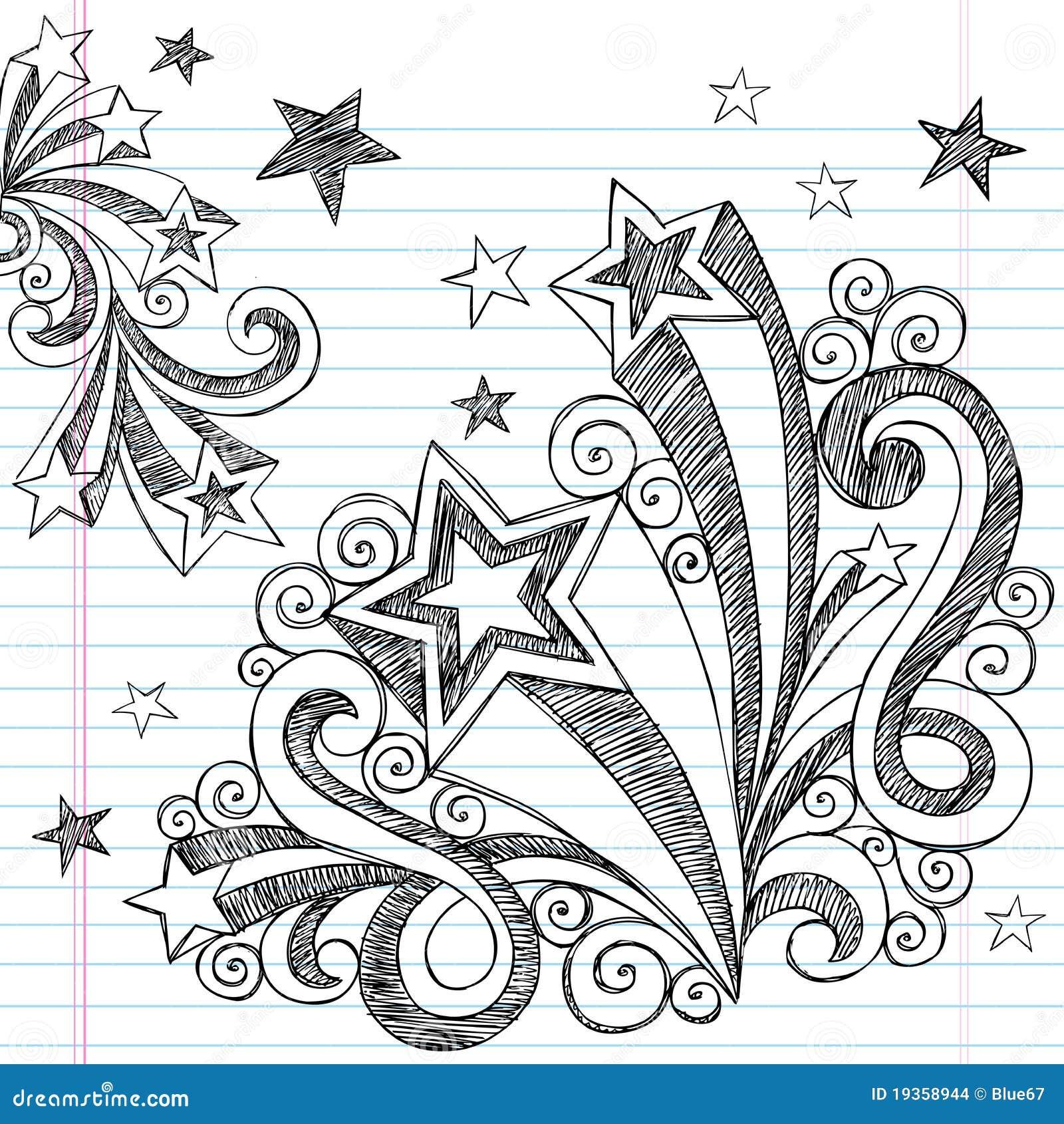 нарисованные doodles задней части вручают школу схематичную к