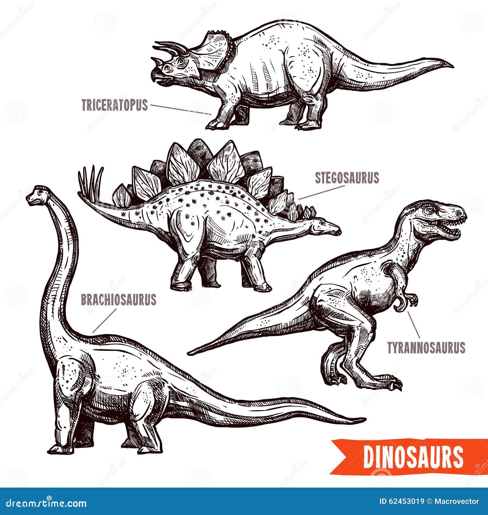 Рисунки от руки динозавры