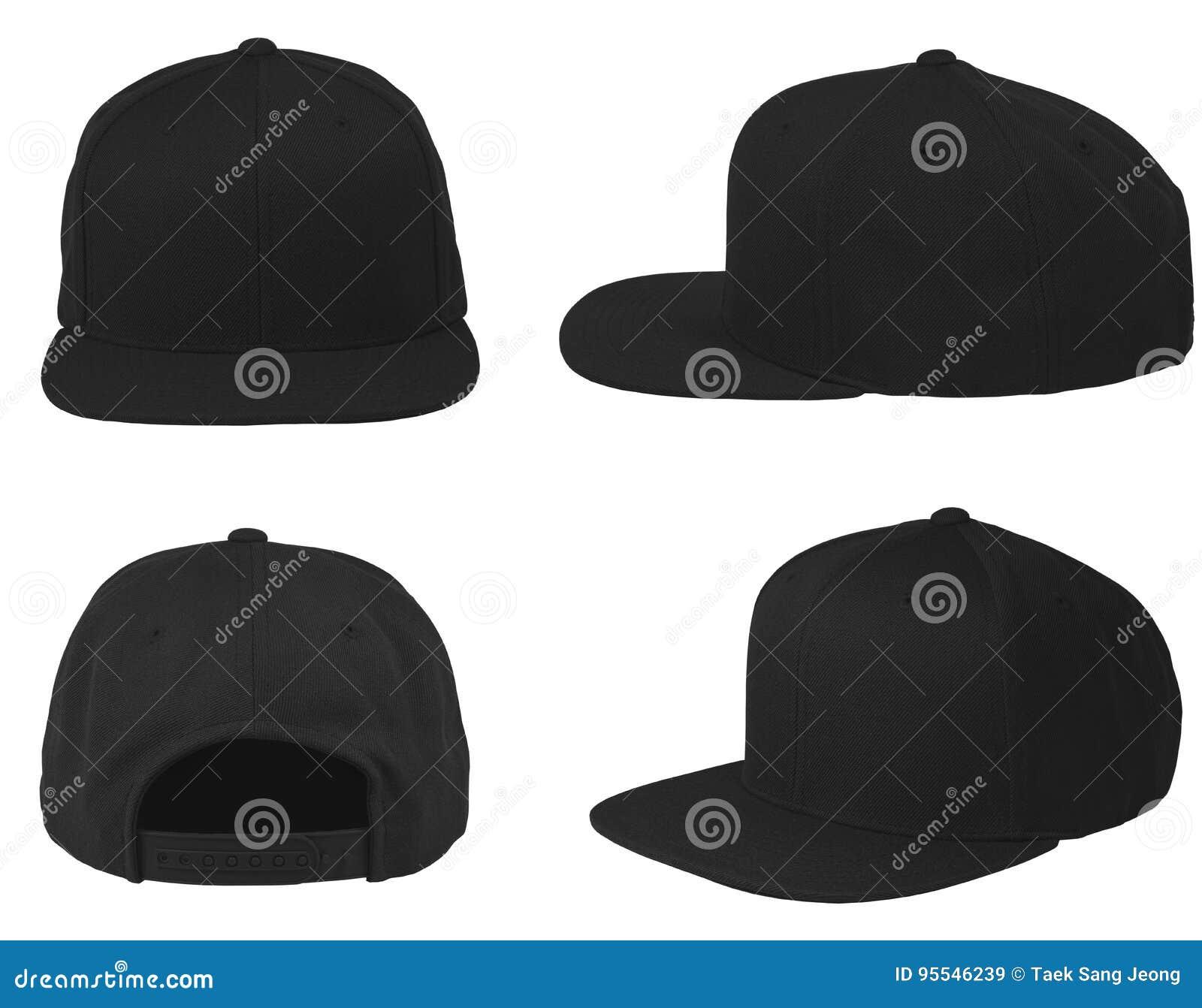 Насмешка вверх по пустой квартиры кнопки черноте шляпы назад изолировала комплект взгляда