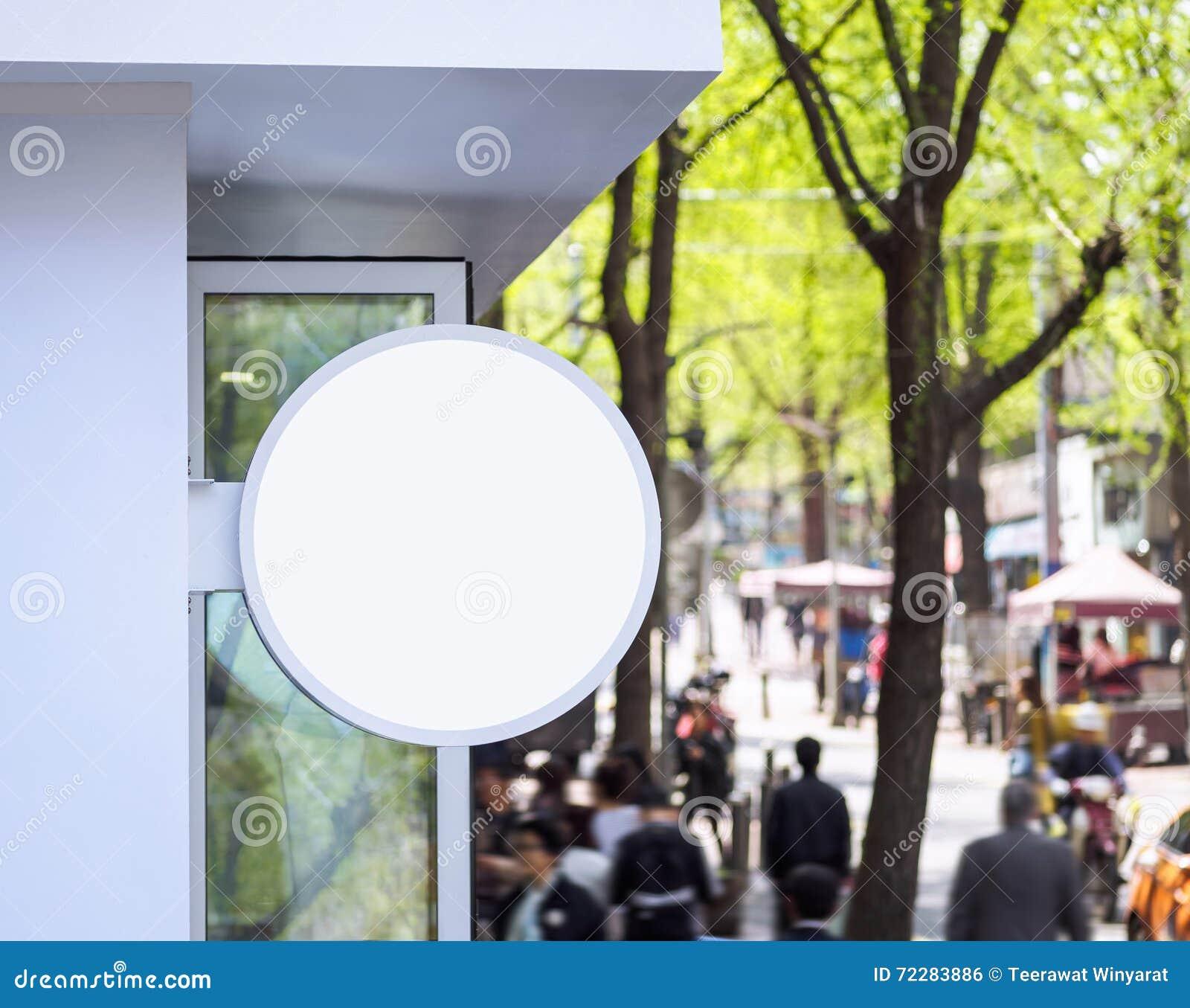 Download Насмешка вверх по торговой улице дисплея магазина округлой формы Signage Стоковое Фото - изображение насчитывающей строя, розница: 72283886