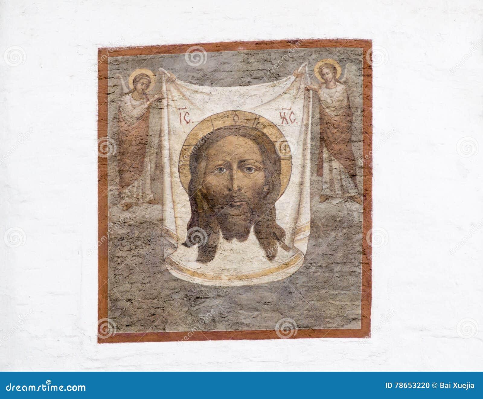 Настенная роспись в соборе christ спаситель, Иркутск, Российская Федерация