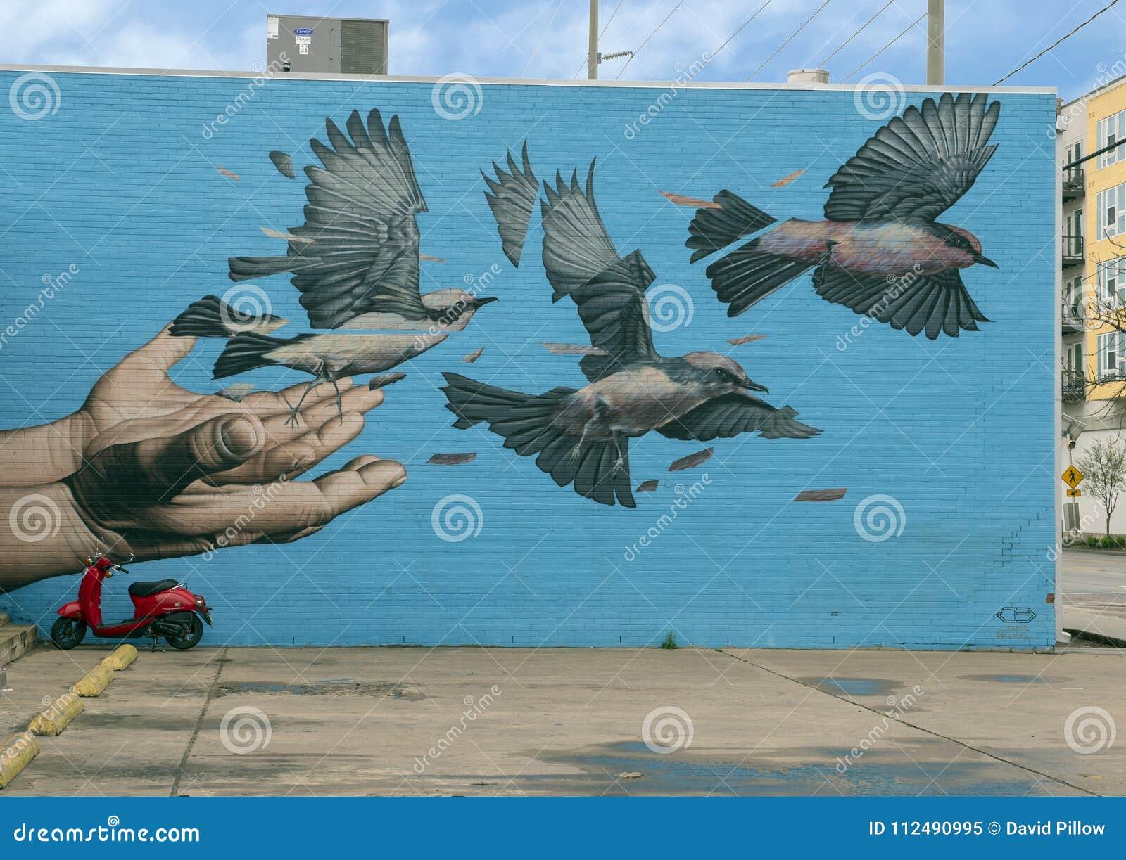 Настенная роспись рощами троицы Джеймс Bullough, Даллас, Техас