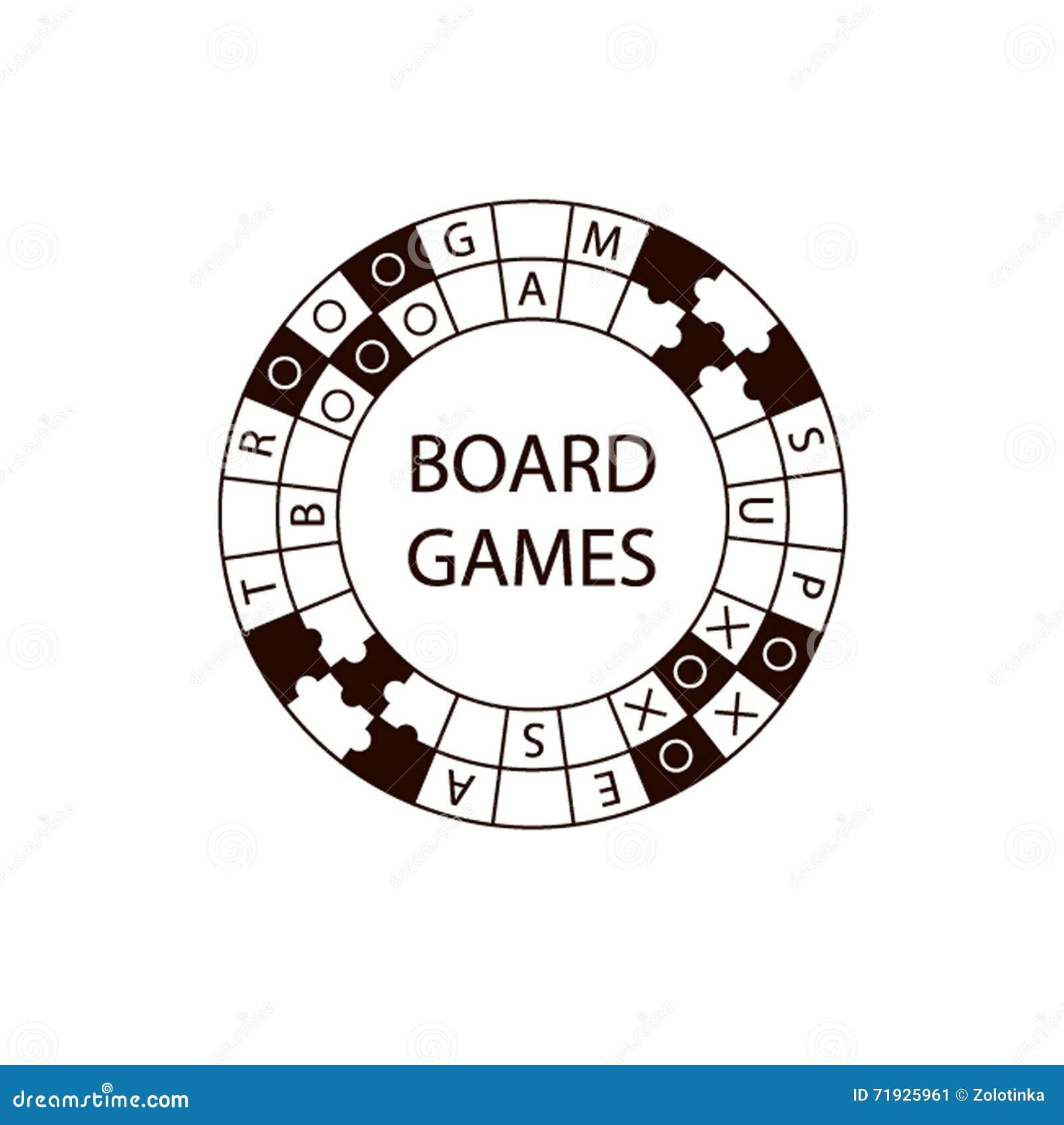 Настольная игра логотипа круга вектора
