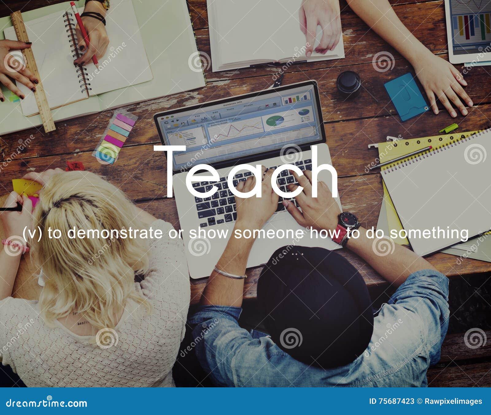 Научите уча концепции тренировки менторства образования тренируя