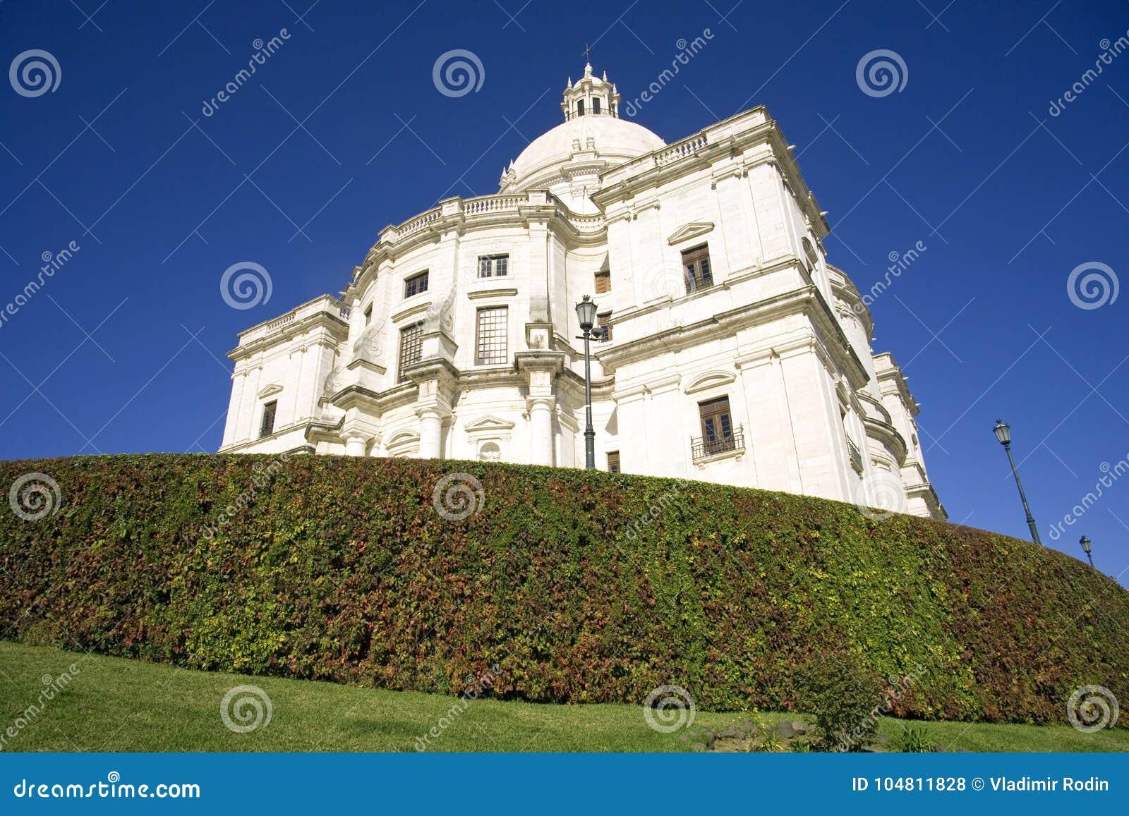 Национальный католицизм Лиссабона Португалии пантеона барочный, церковь ЧИА ¡ engrà Санты