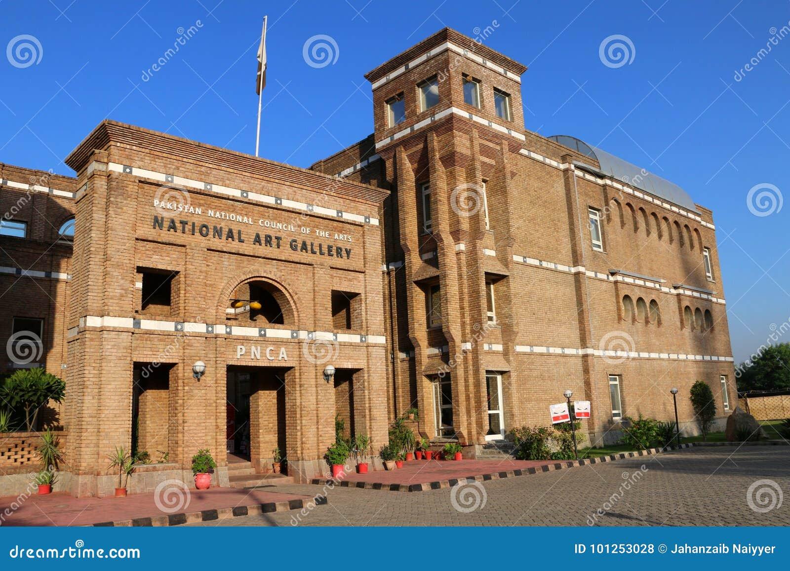 Национальный совет ИСЛАМАБАДА, ПАКИСТАНА - 22-ое сентября 2017 - Пакистана для искусств строя в Исламабаде, Пакистане PNCA извест