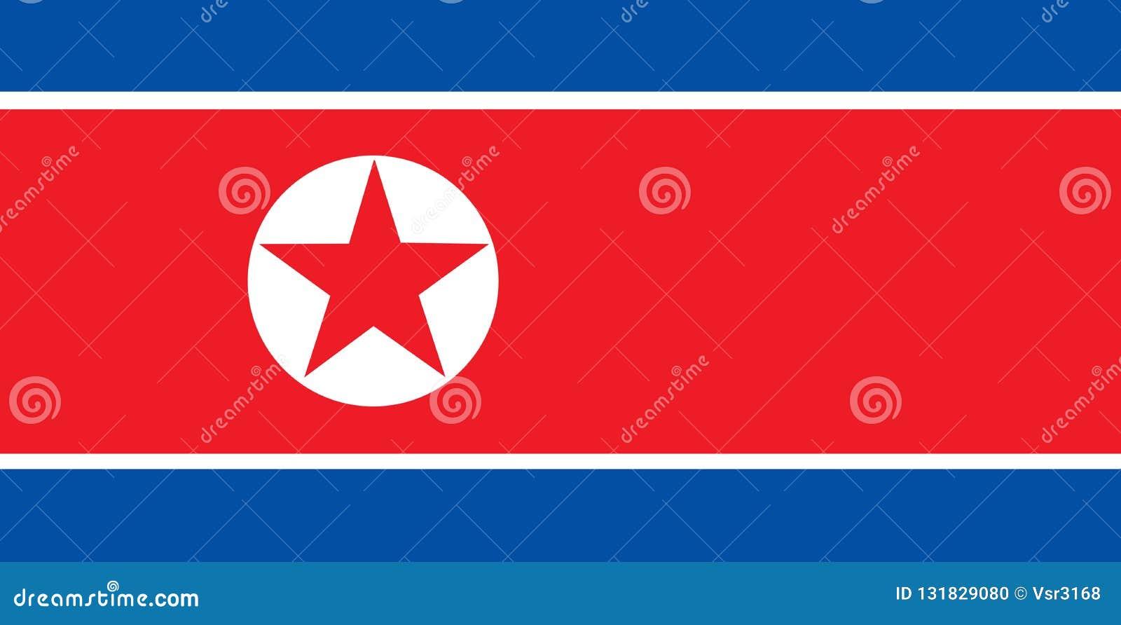 Национальный флаг Северной Кореи Предпосылка с флагом Корейской Северной Кореи