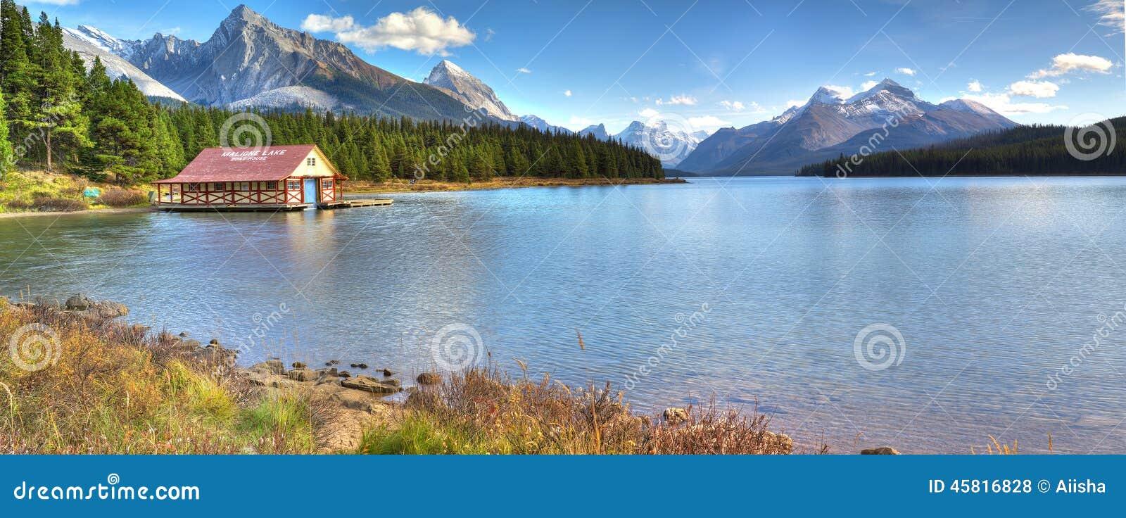национальный парк maligne озера яшмы Канады