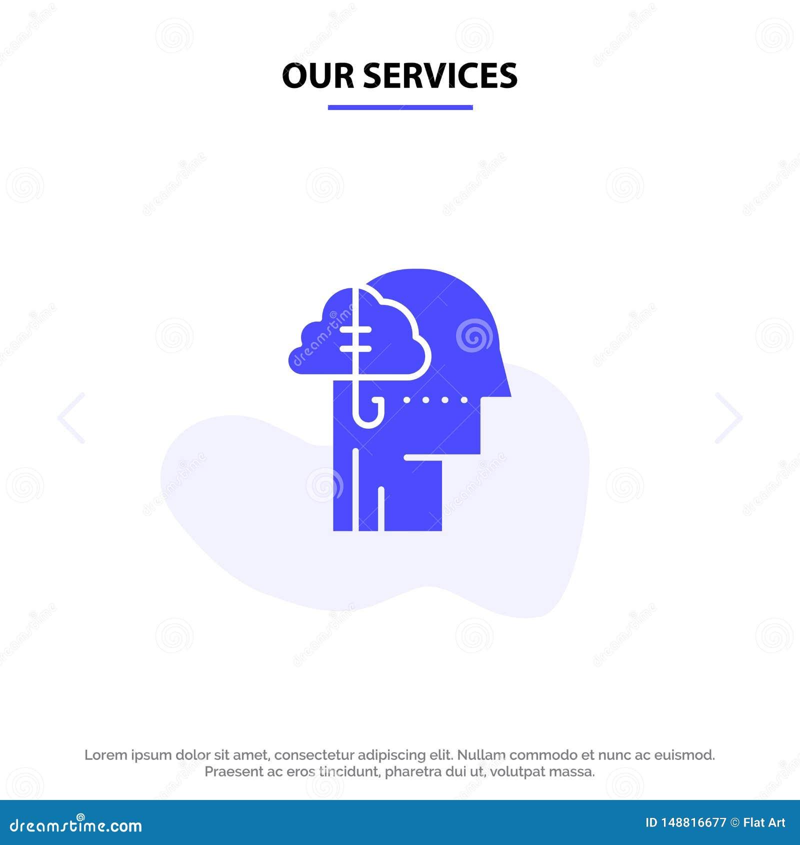 Наши обслуживания занимая идеи, наркомания, задвижка, привычка, человеческий твердый шаблон карты сети значка глифа