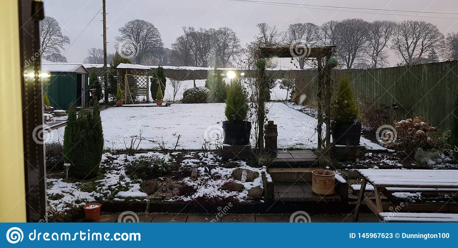 Наш сад семьи в зиме