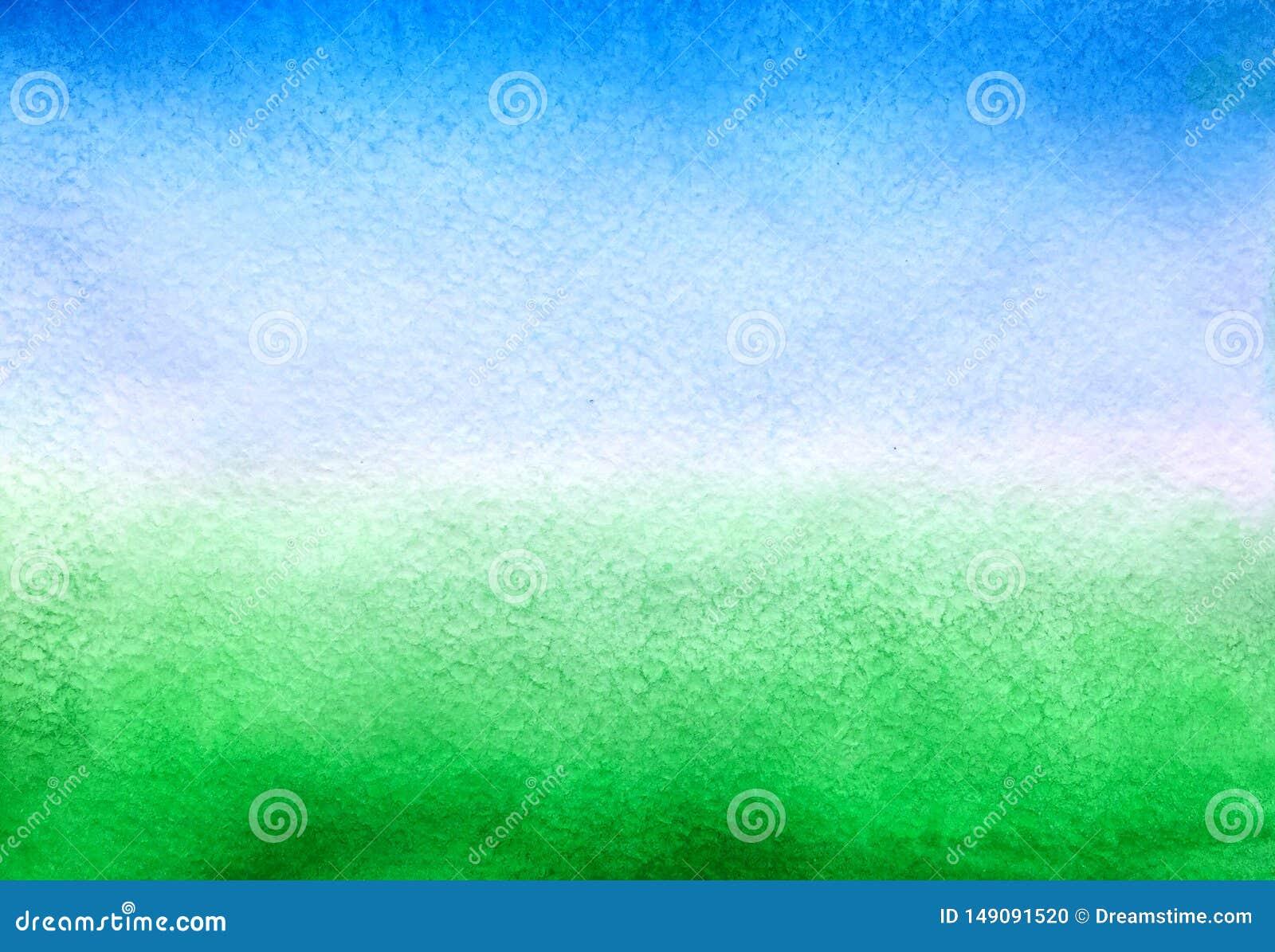 Небесно-голубая и зеленая предпосылка