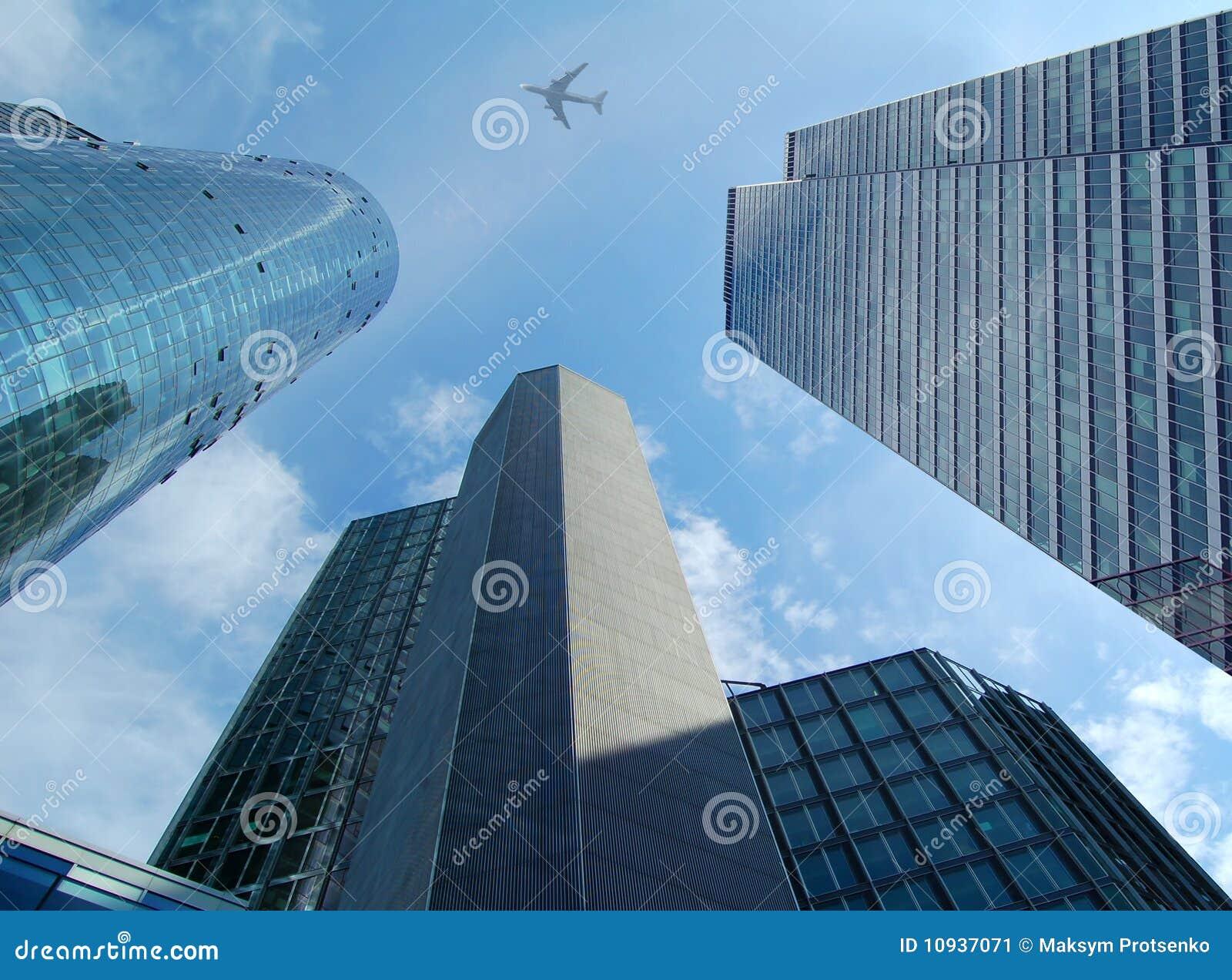 небоскребы самолета высокие самомоднейшие