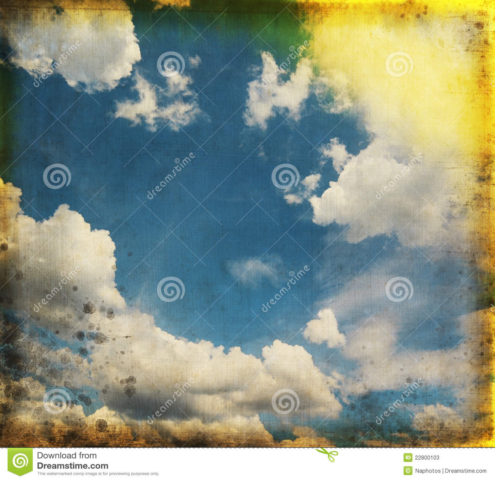 небо голубого grunge старое бумажное