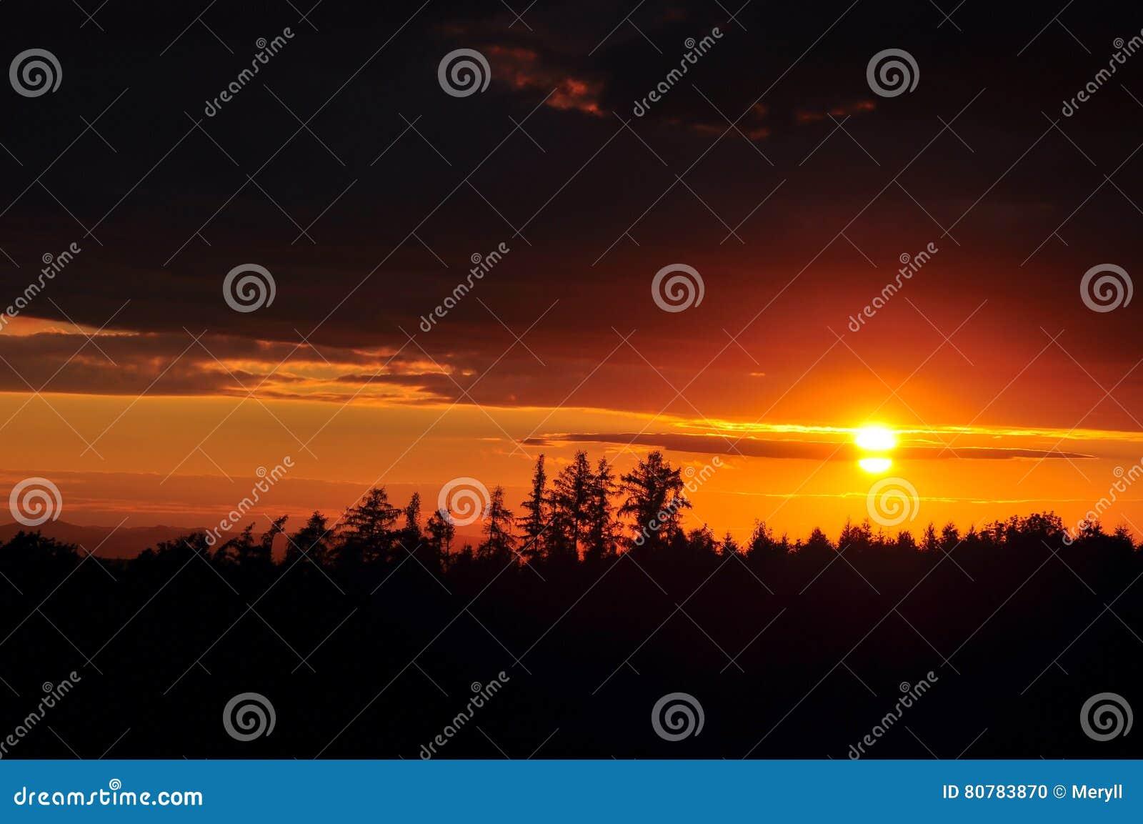 Небо захода солнца