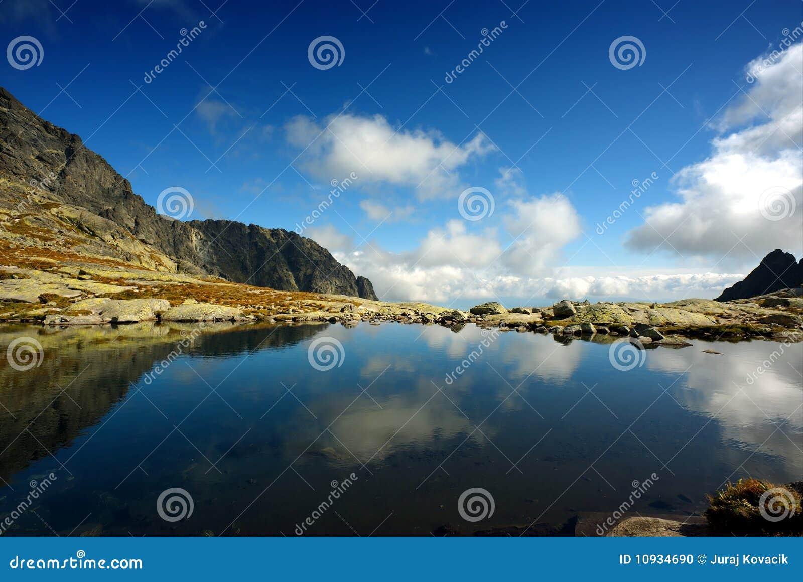 небо отражения горы озера