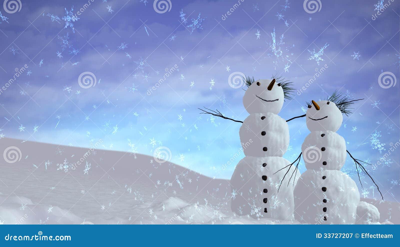 Небо снеговиков