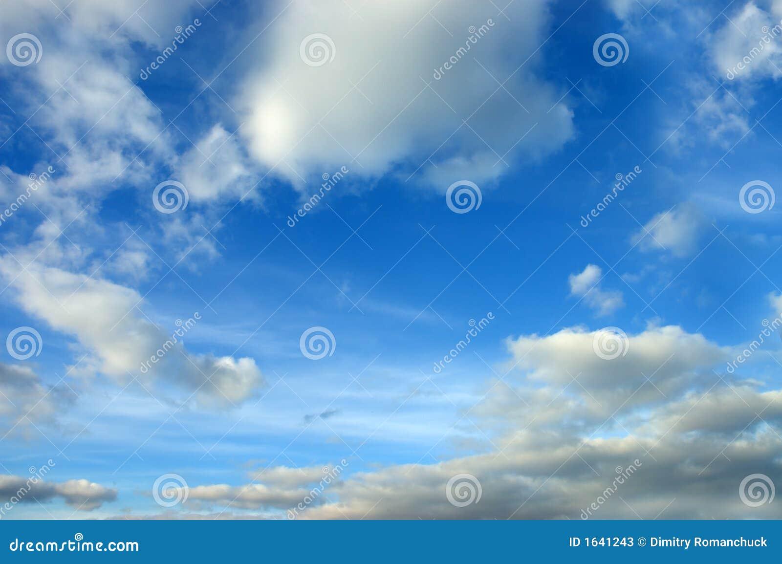 небо съемки широкое