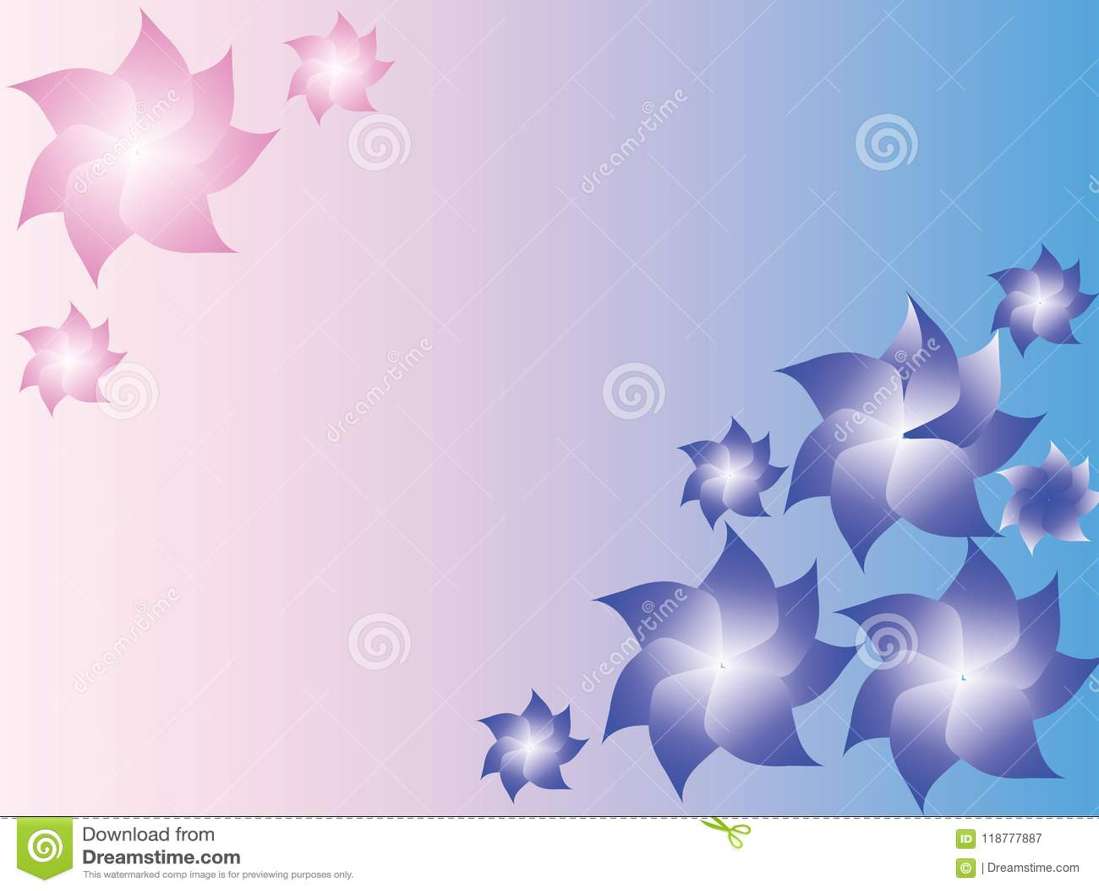 нежность предпосылки голубая розовая